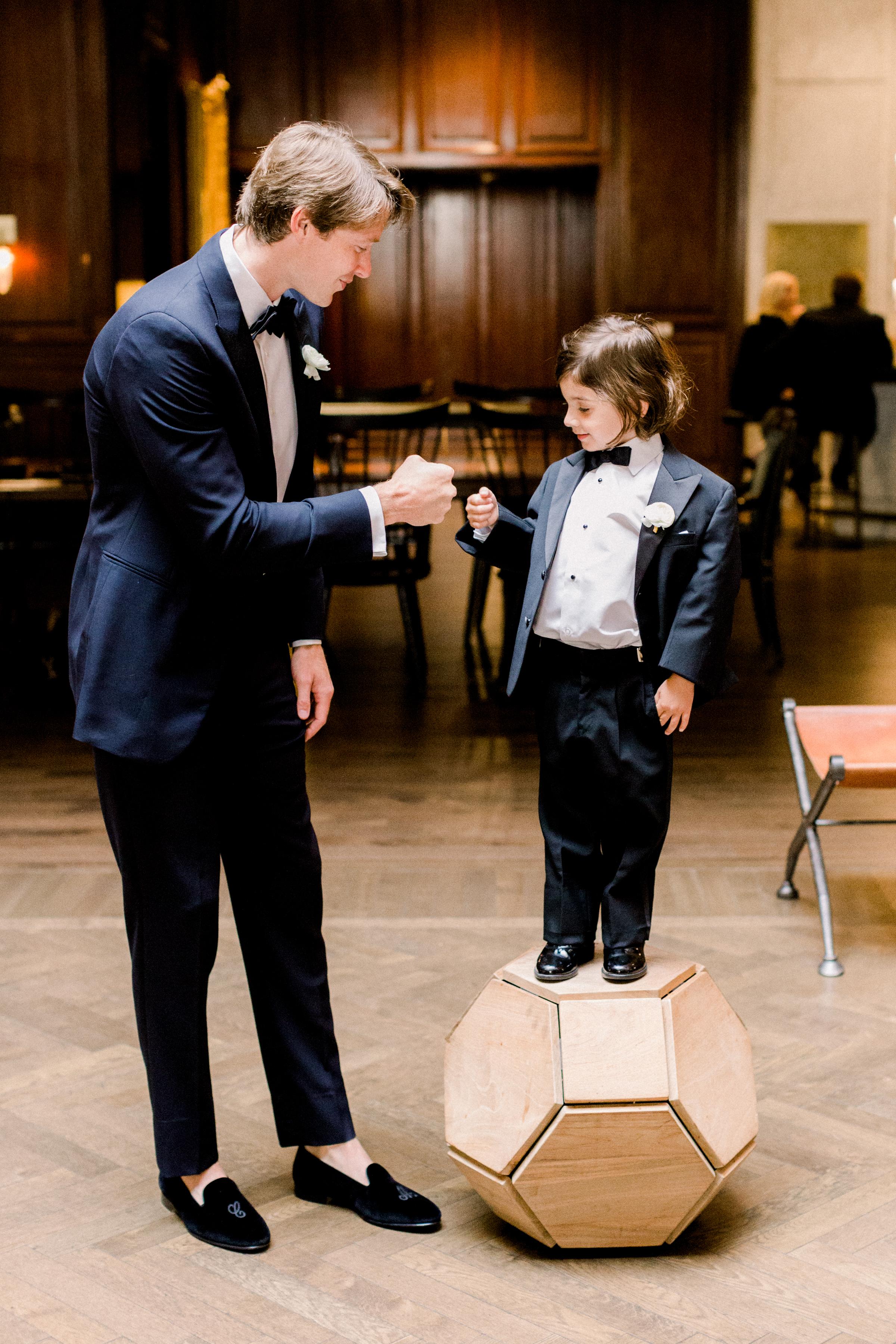collin olivia wedding groom with ring bearer