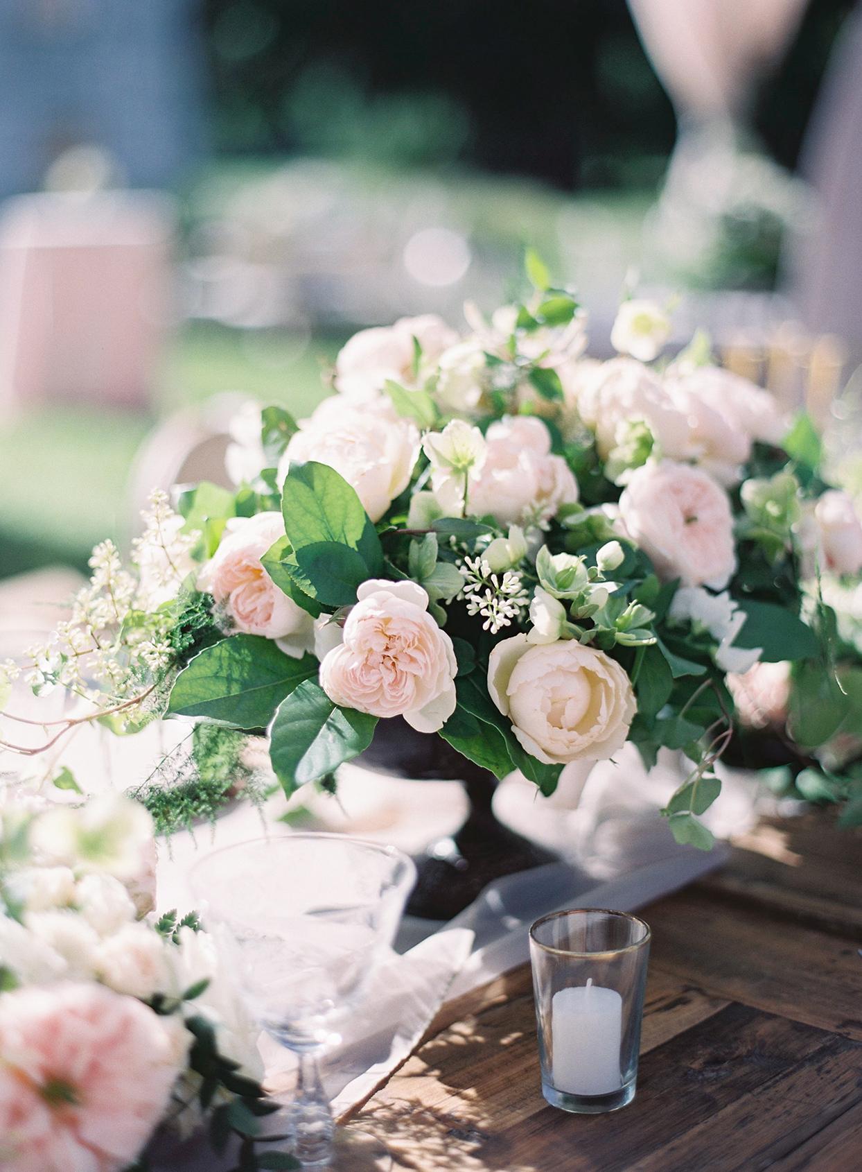 chelsea john pastel pink floral centerpieces