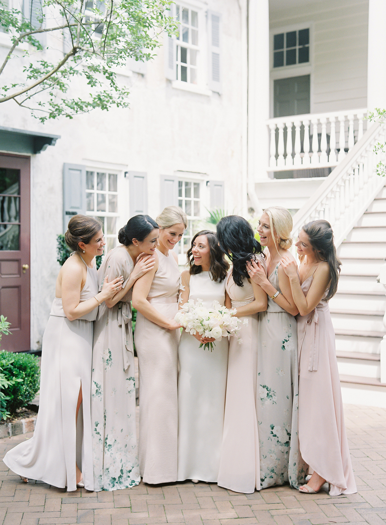 paula terence wedding bridesmaids in mauve