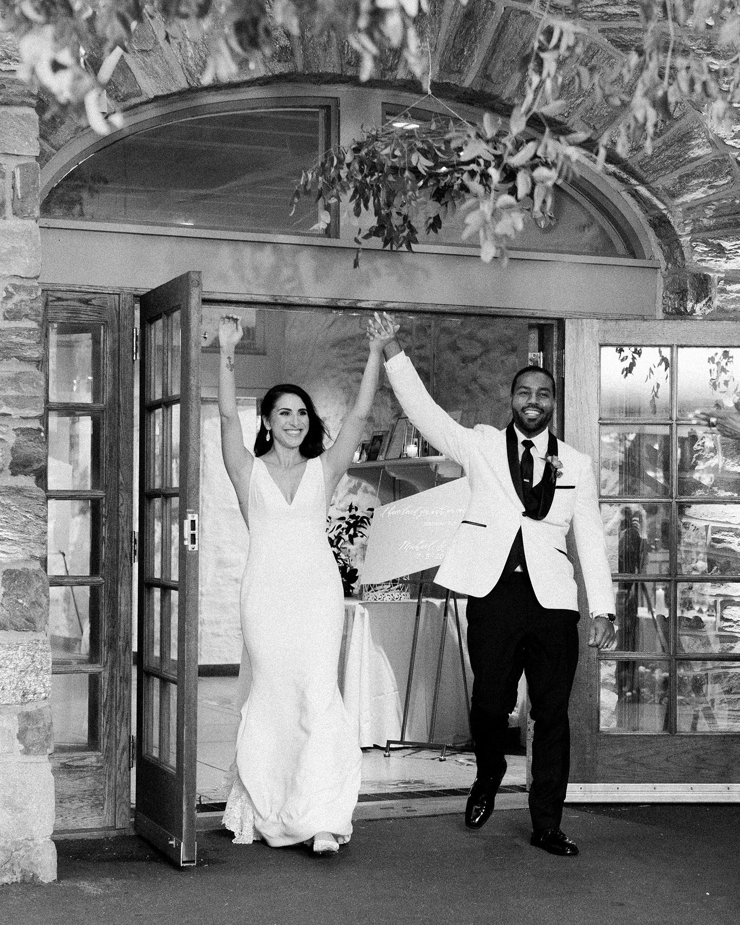 noel mike wedding reception couple entrance