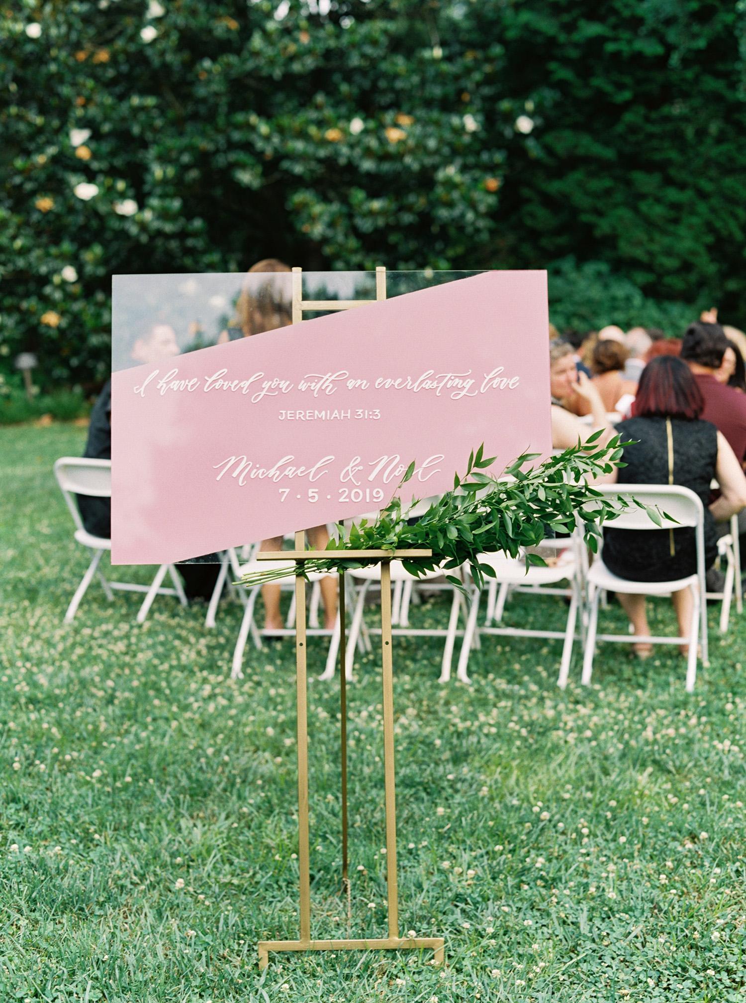 noel mike wedding sign
