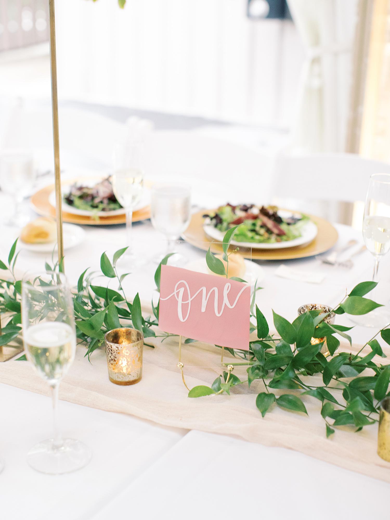 noel mike wedding table number
