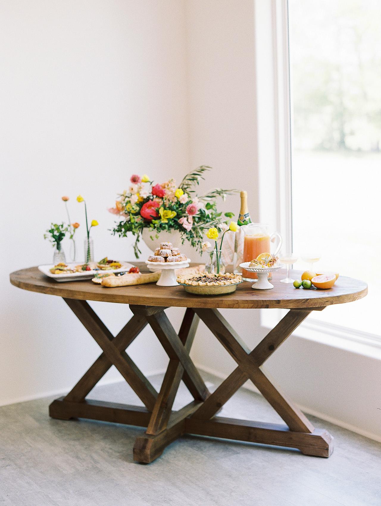 summer bridal shower ideas bright dessert table