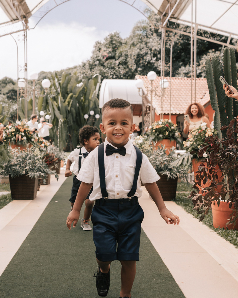 wedding ring bearers blue suspenders shorts