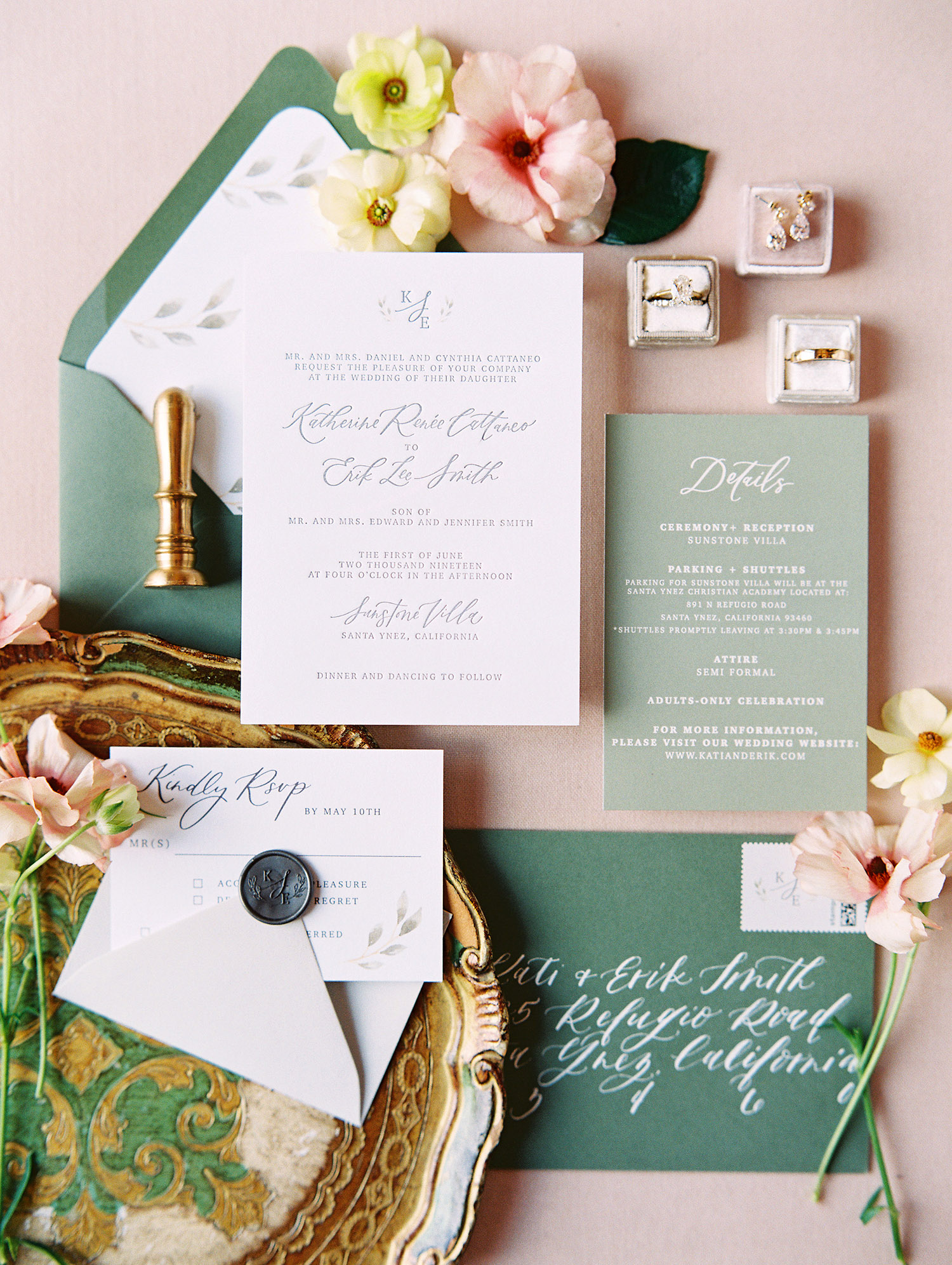 kati erik wedding invitations stationery suite