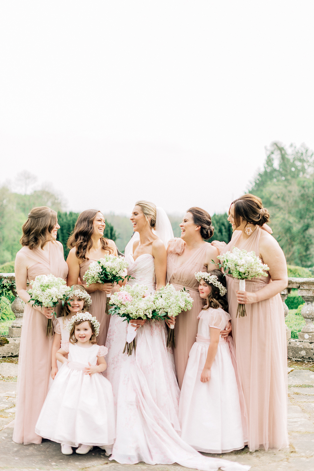 blathnaid daire wedding bride bridesmaids flower girls