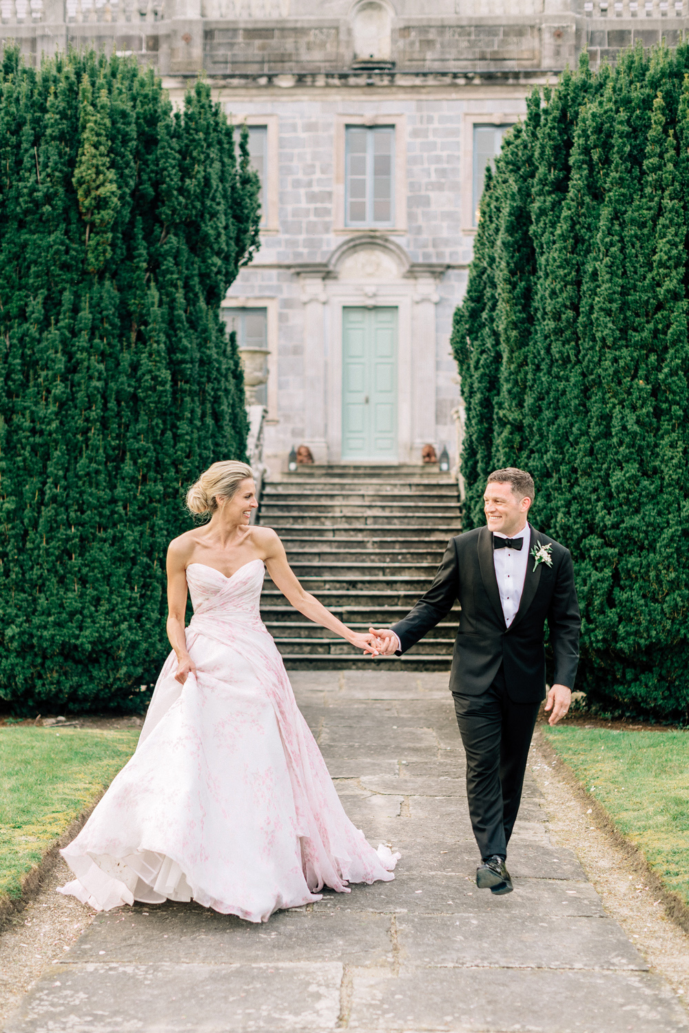 blathnaid daire wedding couple holding hands