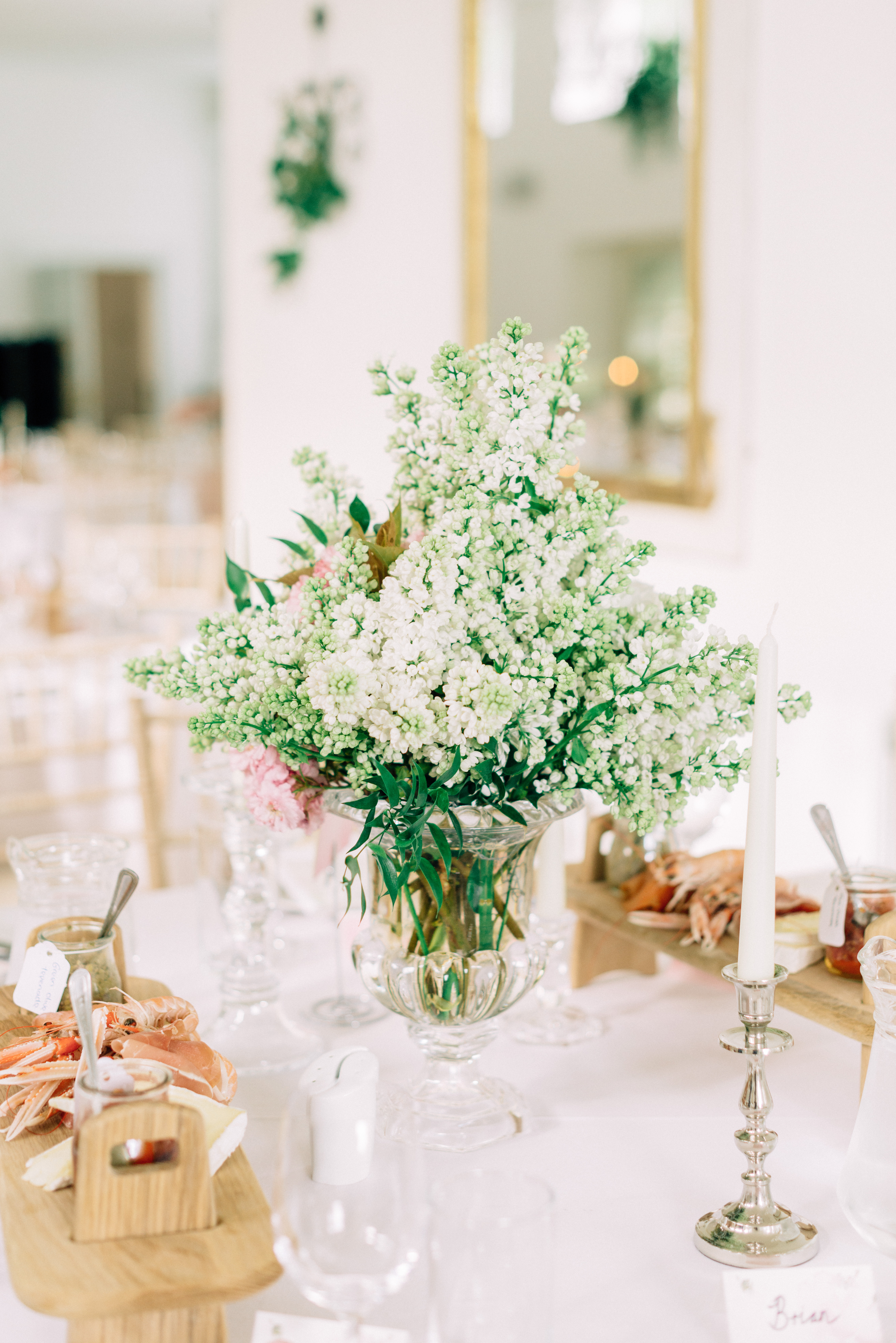 blathnaid daire wedding centerpiece