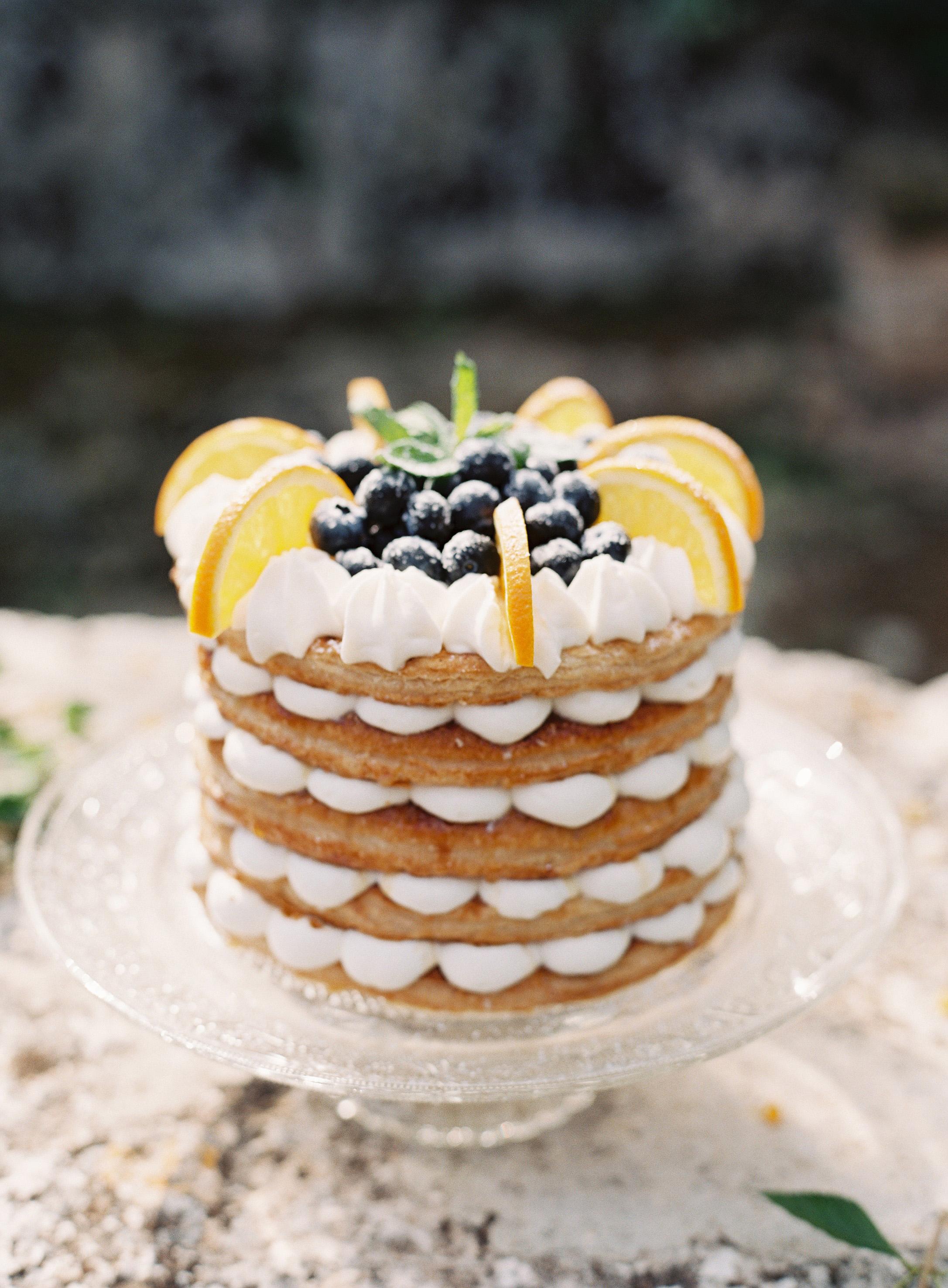 millefoglie italian wedding cake