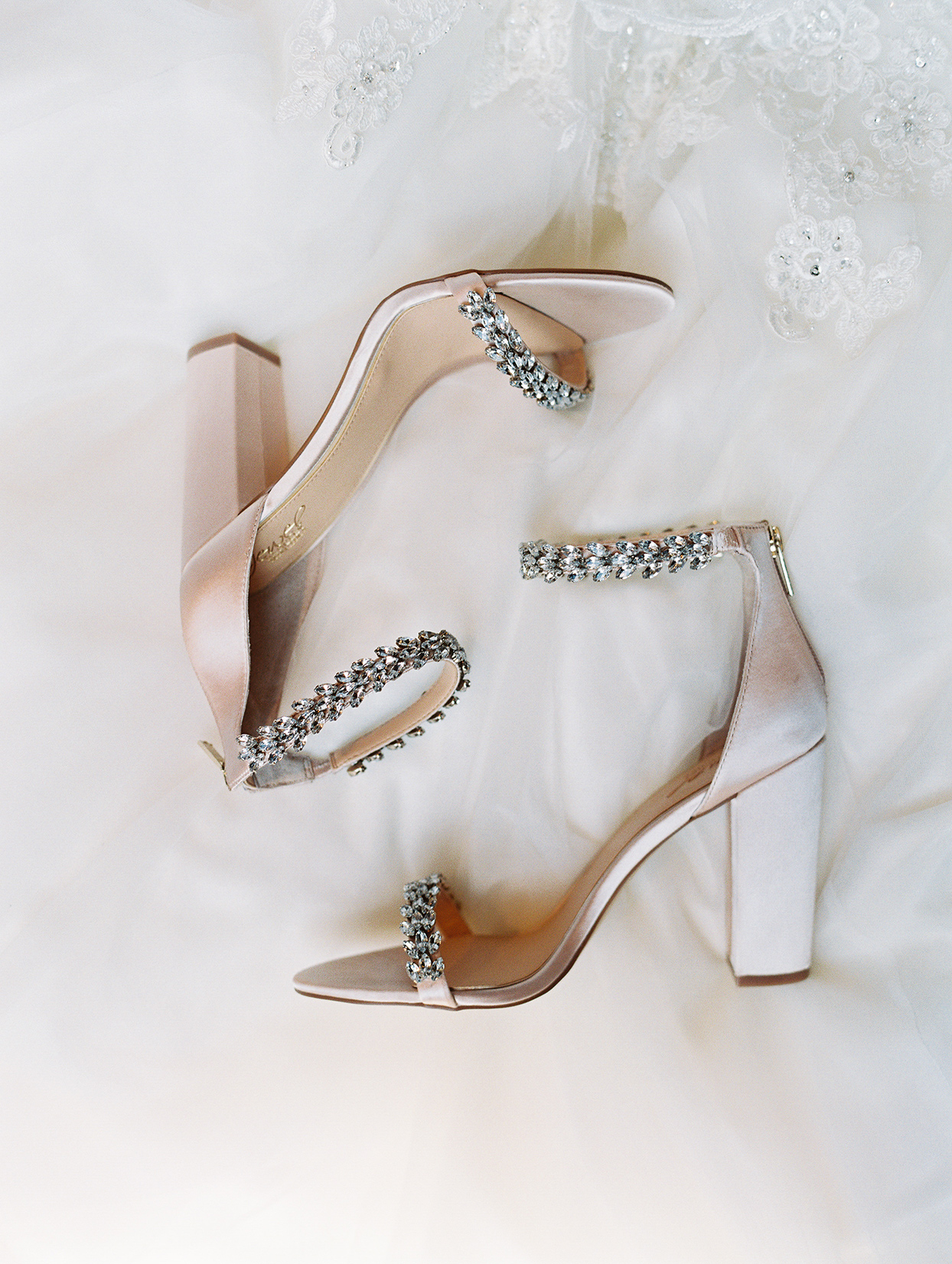 Blushing Bridal Shoes