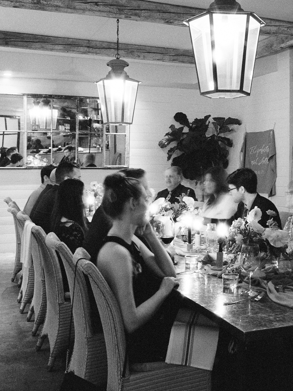 elizabeth scott wedding guests at tables