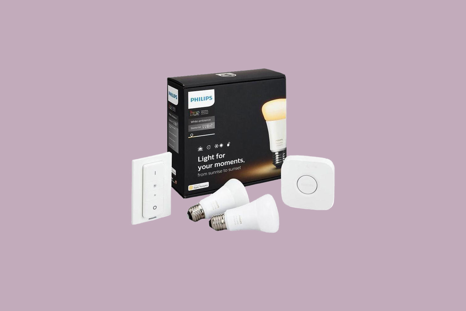 Phillips Hue White Ambiance Smart Lighting Starter Kit