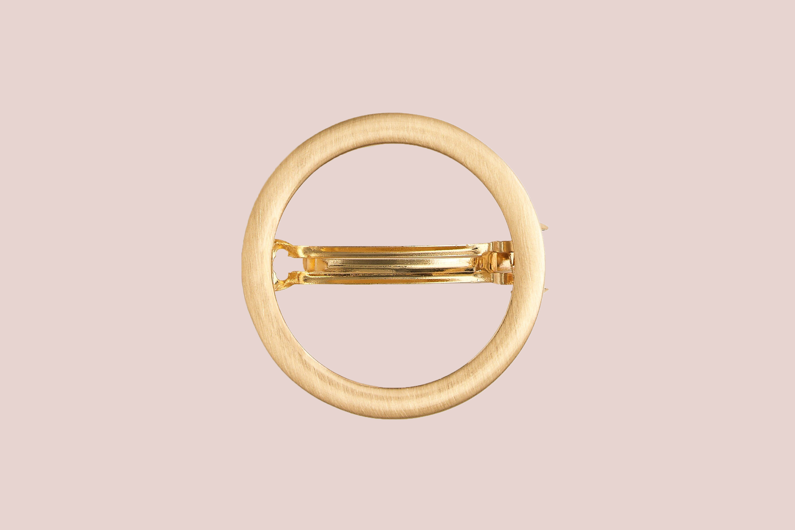 J. Crew Oval Barrette in Brushed Metal