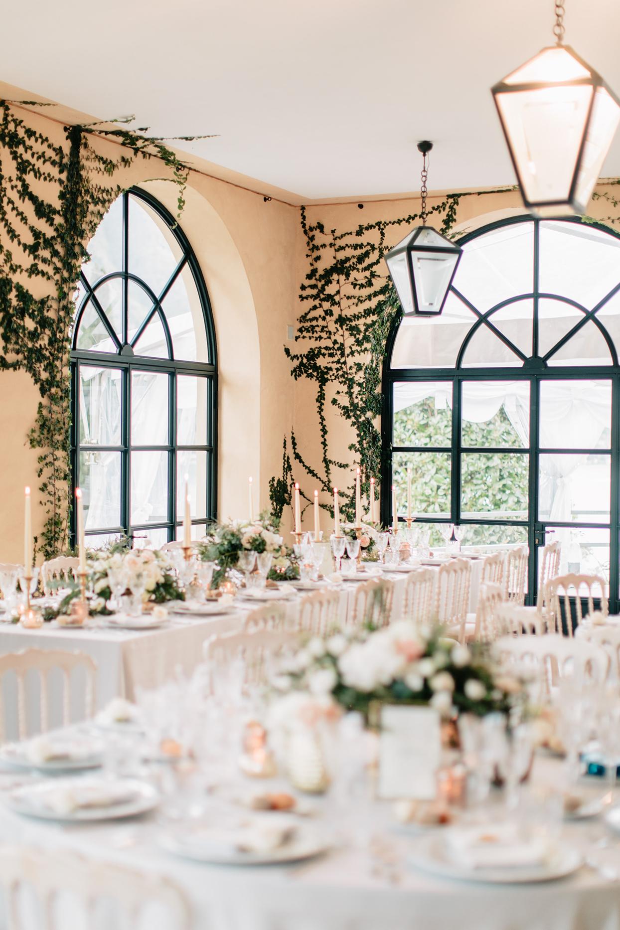 kiira arthur wedding reception tables inside venue