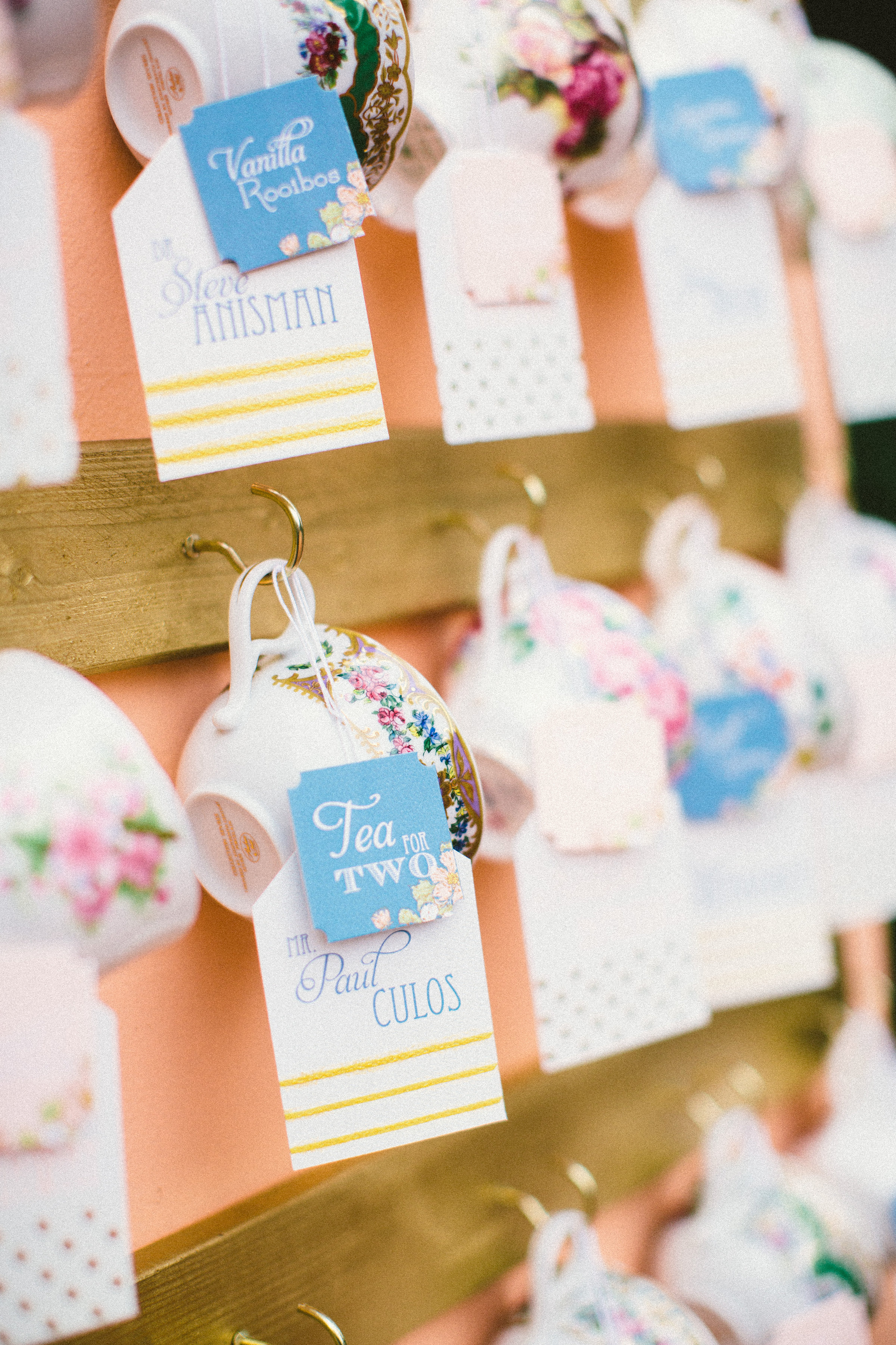 teacup escort cards