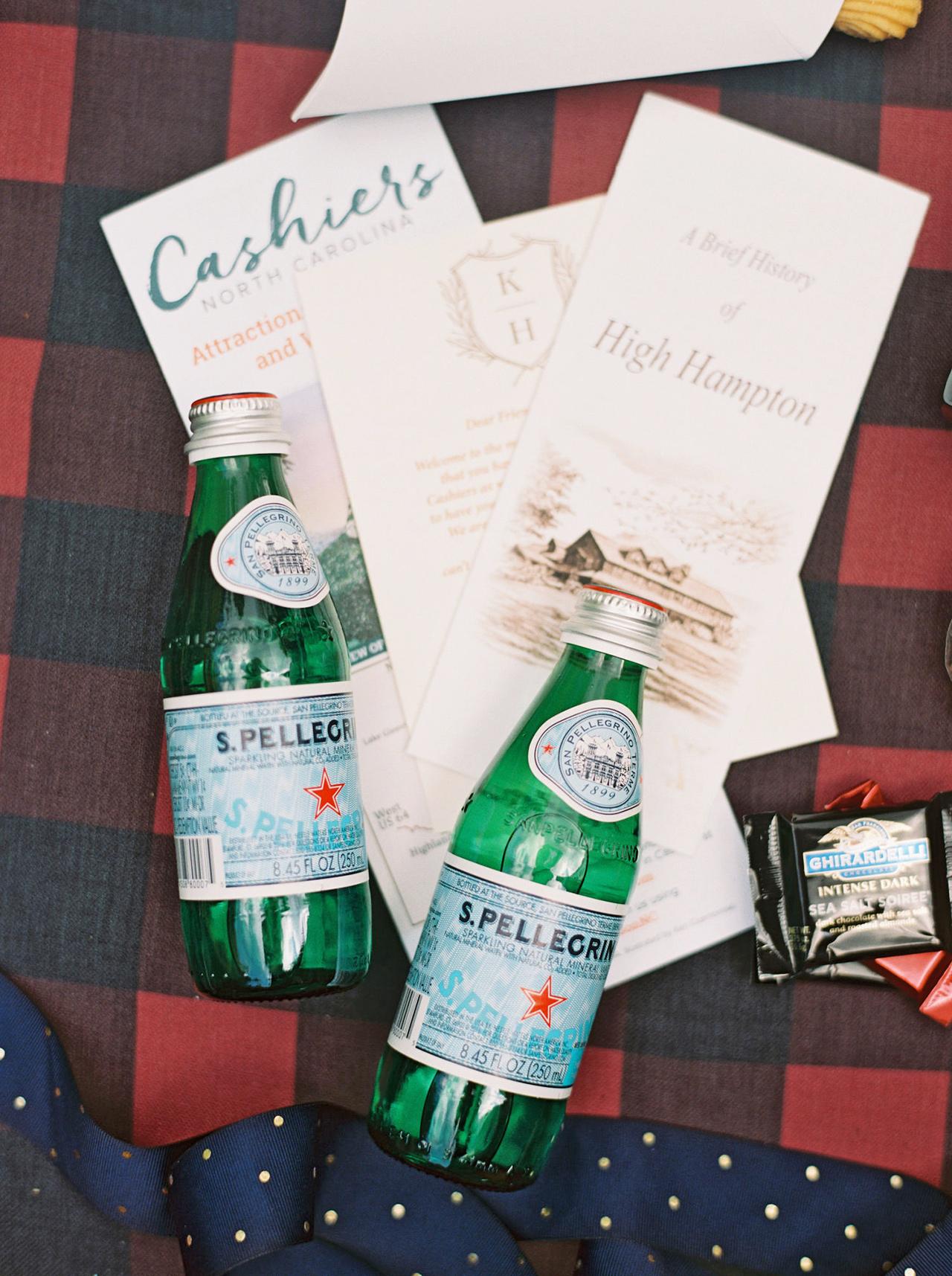 kathleen henry wedding welcome bags