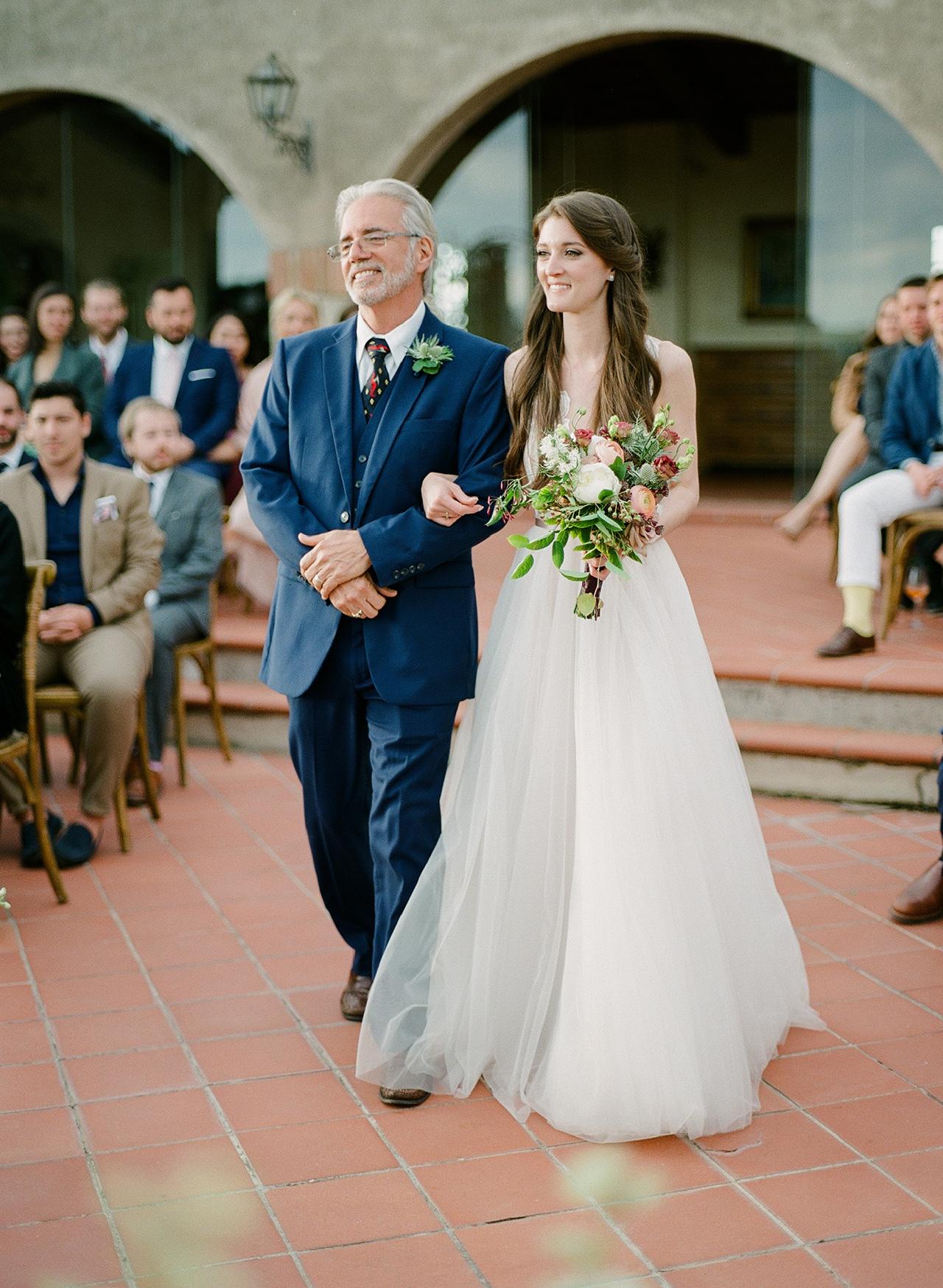 bride father walk wedding processional