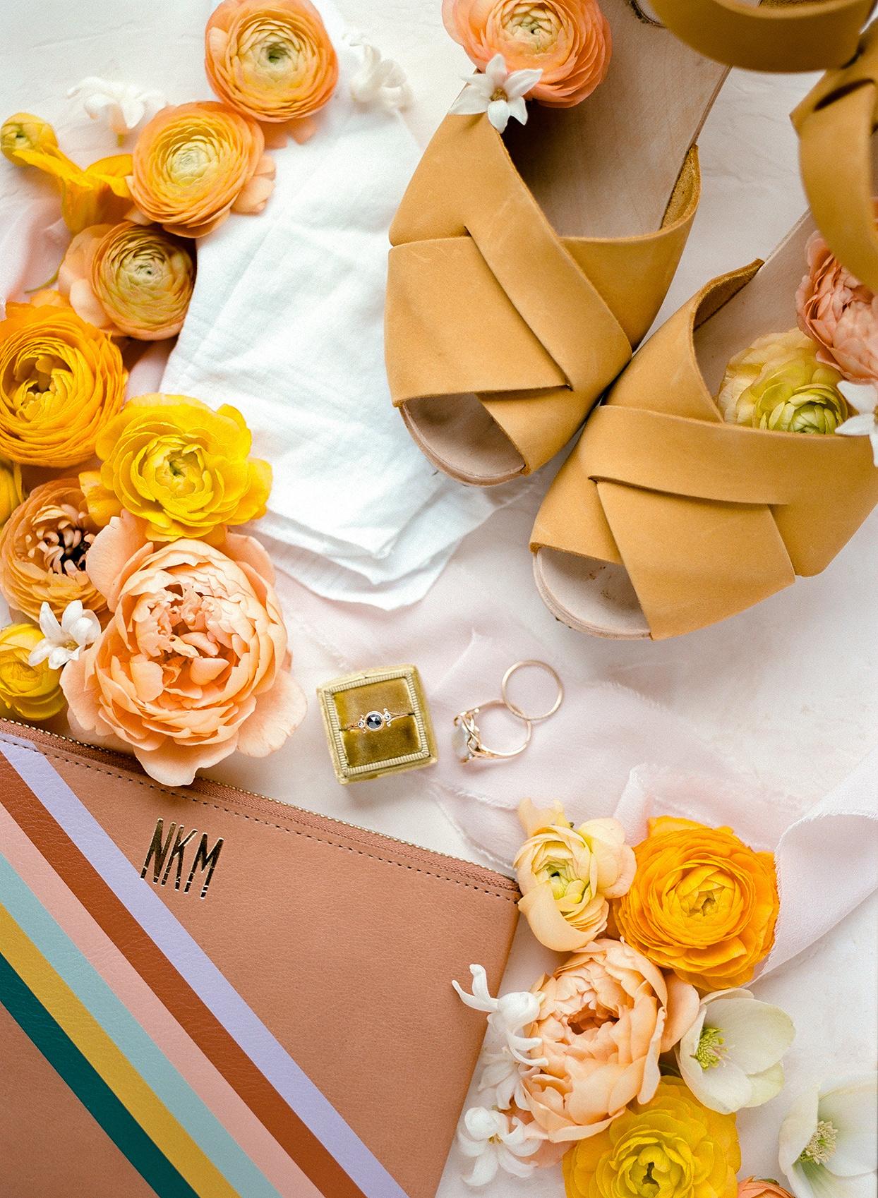 nina devon wedding mustard yellow flowers and accessories