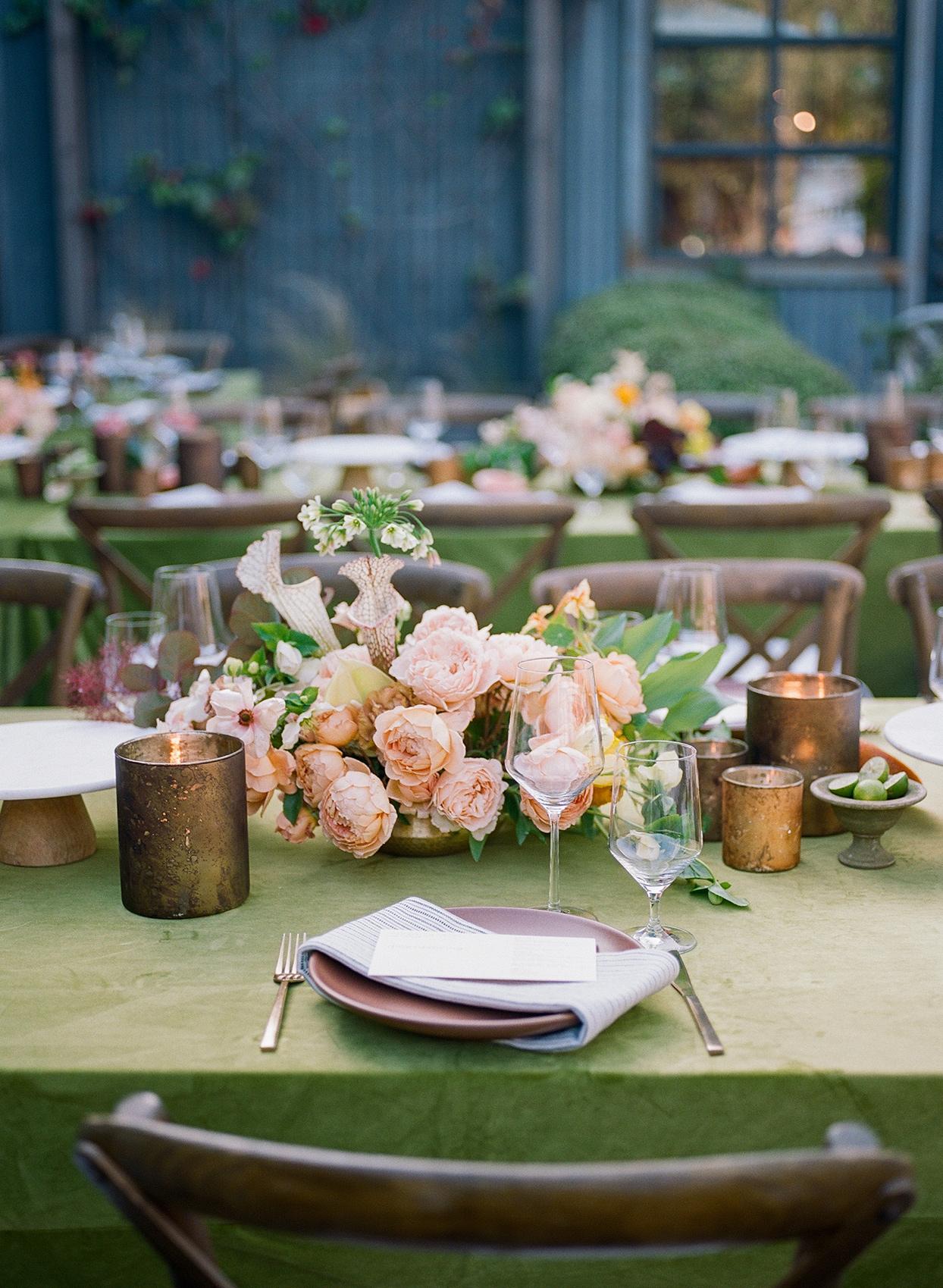 nina devon wedding rustic place setting