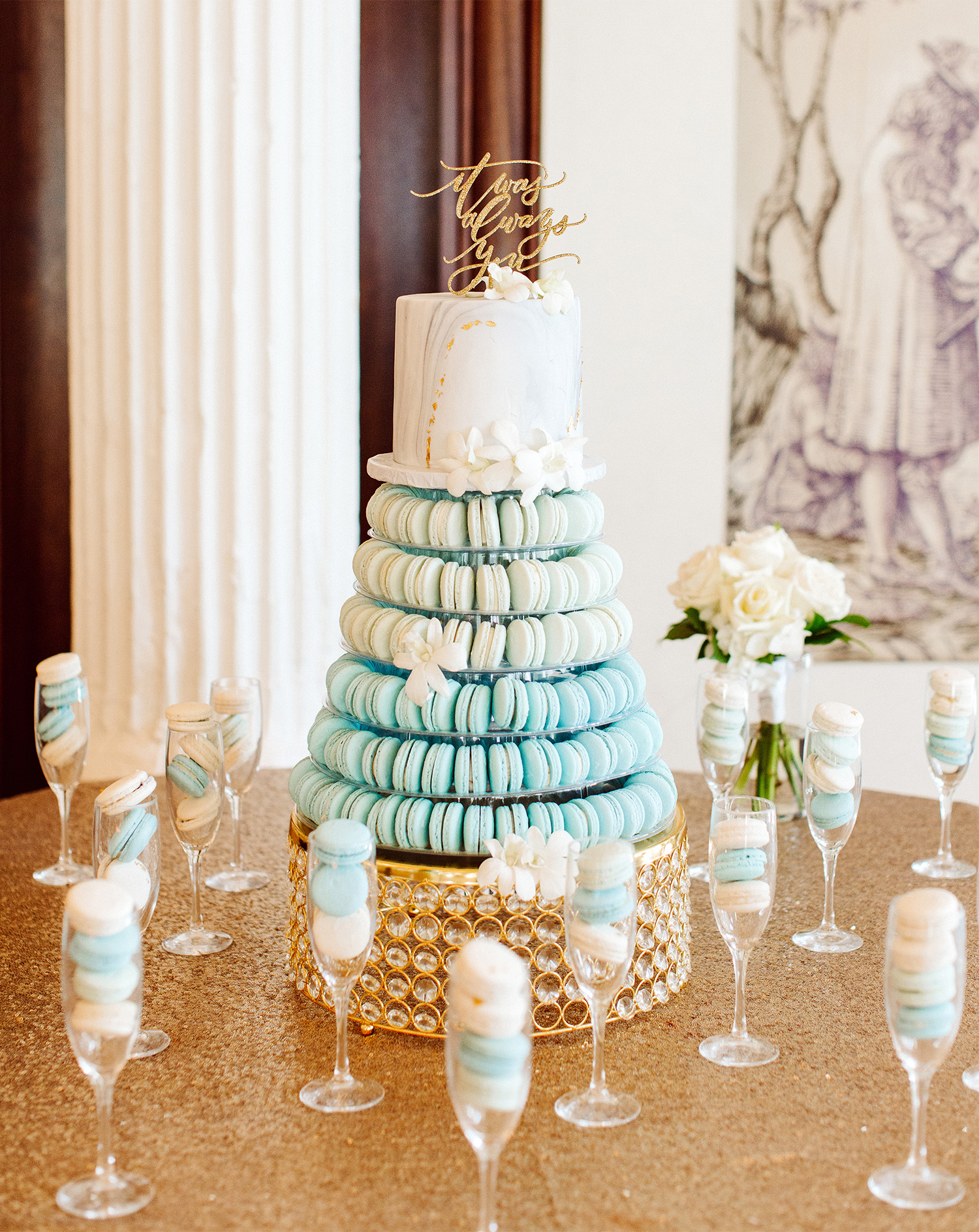 bryanna nick wedding cake macaroons