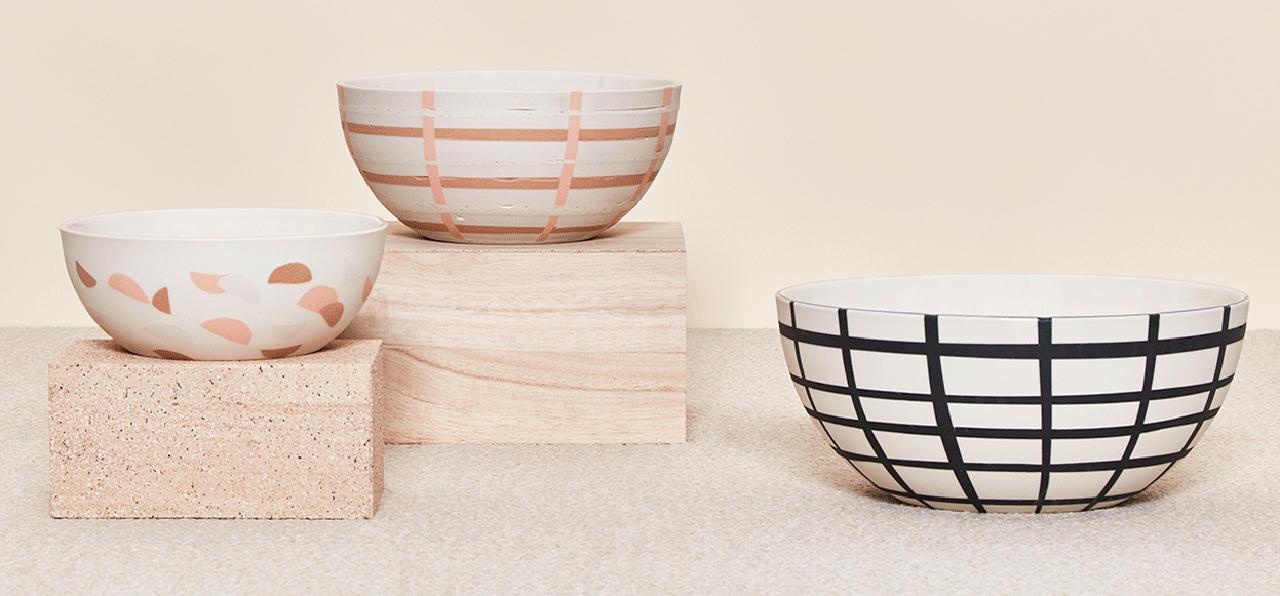 andrew molleur patterned porcelain bowls