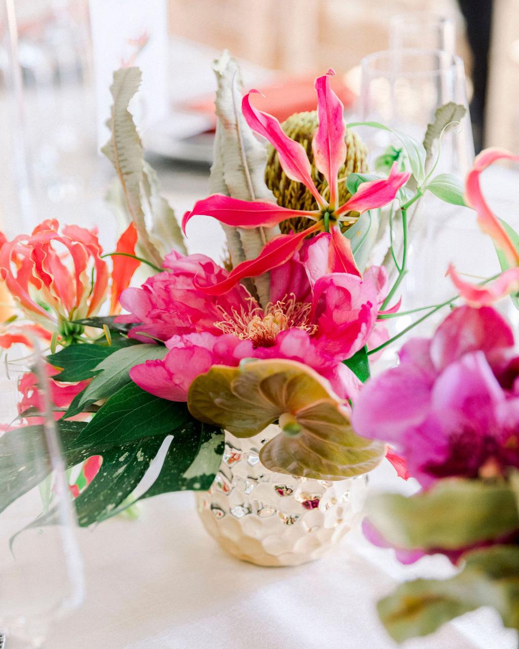 dalila elliot tropical flowers centerpiece