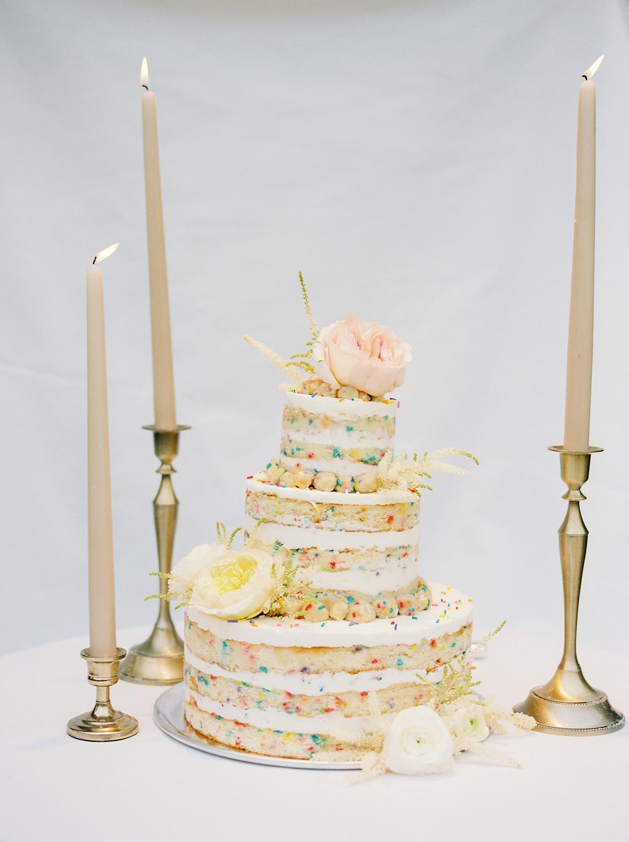 mika steve funfetti naked wedding cake