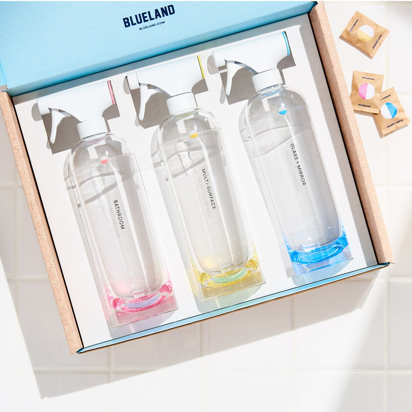Blue Land Cleaning products box