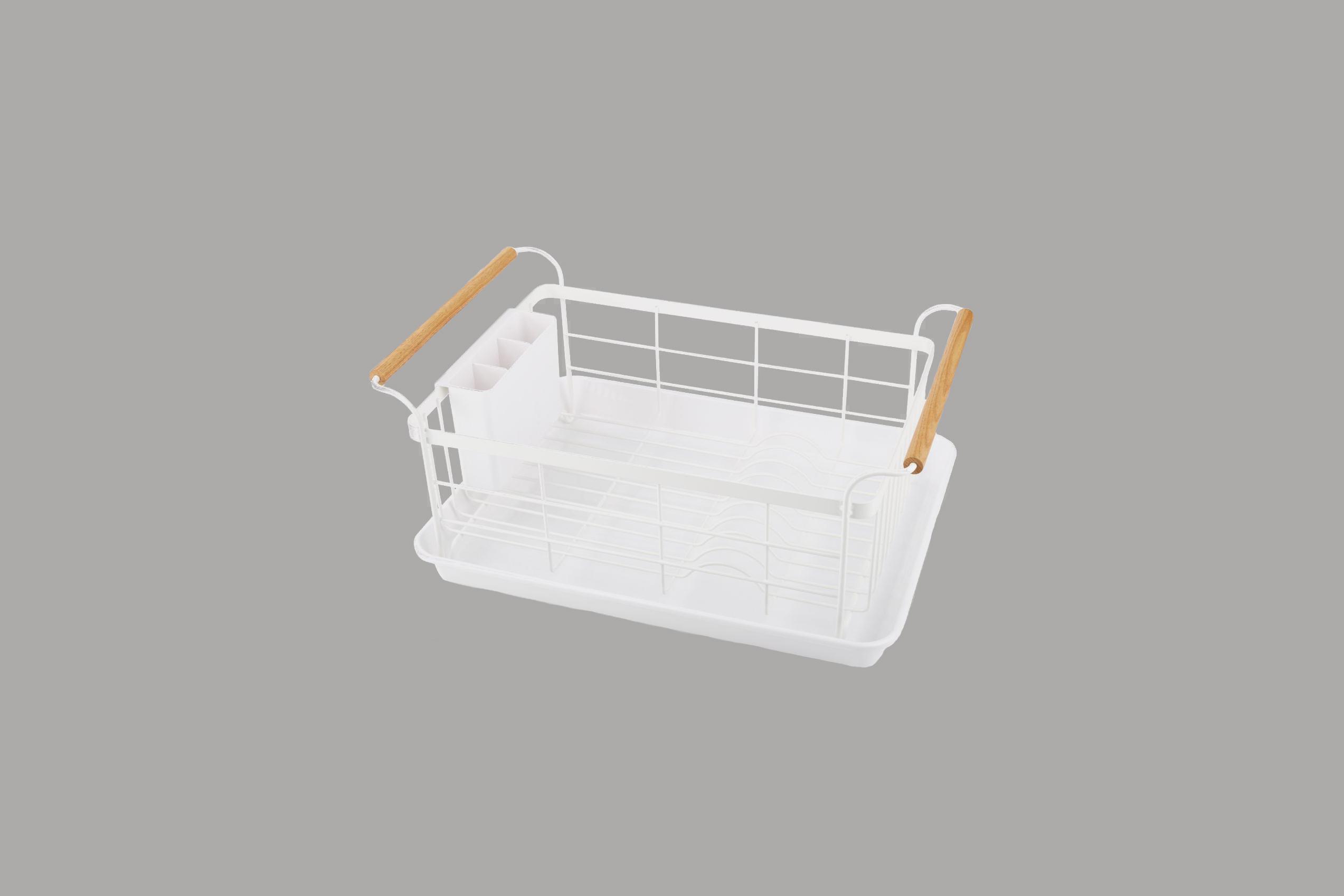 "Crate & Barrel ""Tosca"" White Dish Rack"