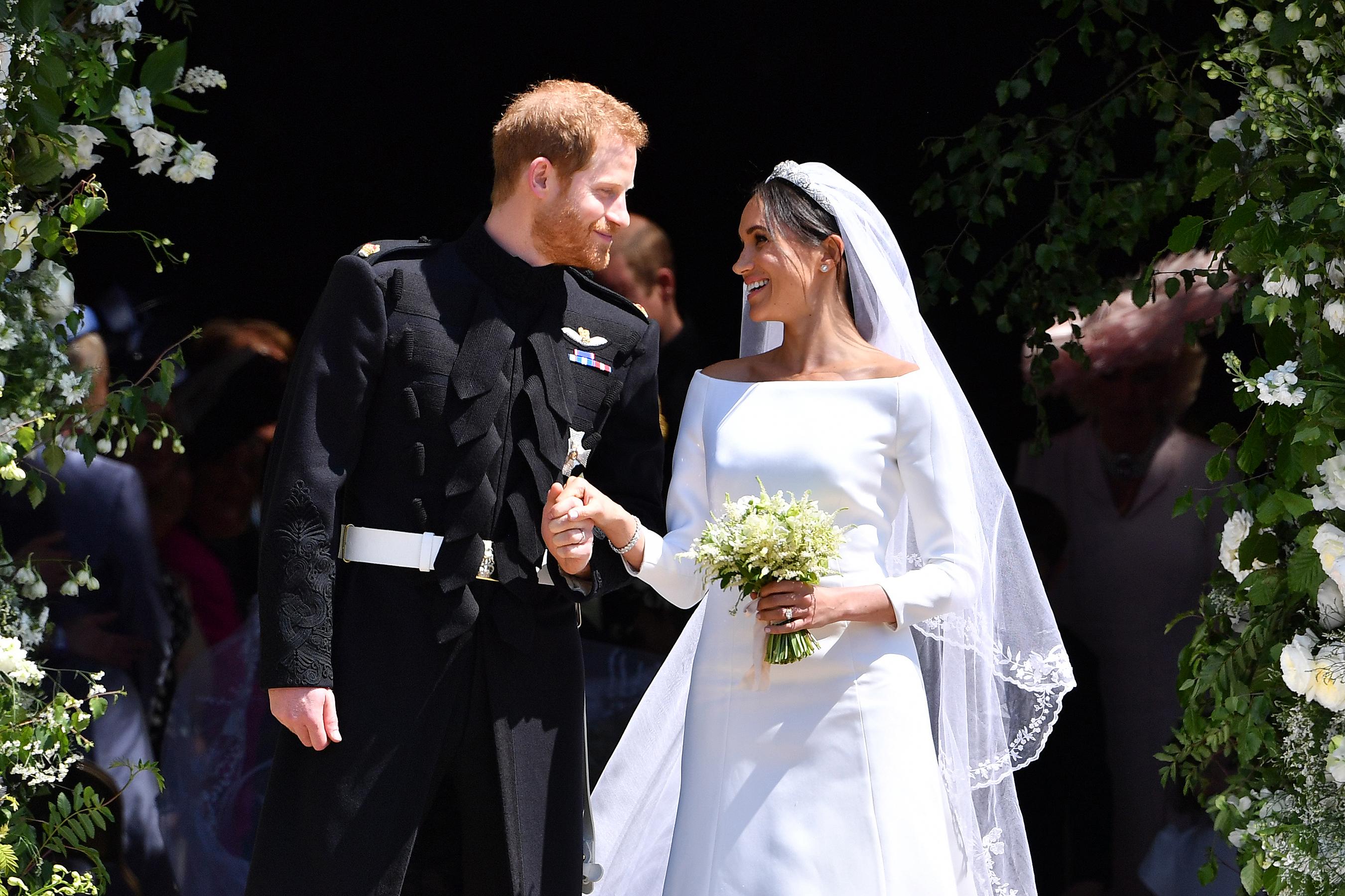 prince harry meghan markle first anniversary photo