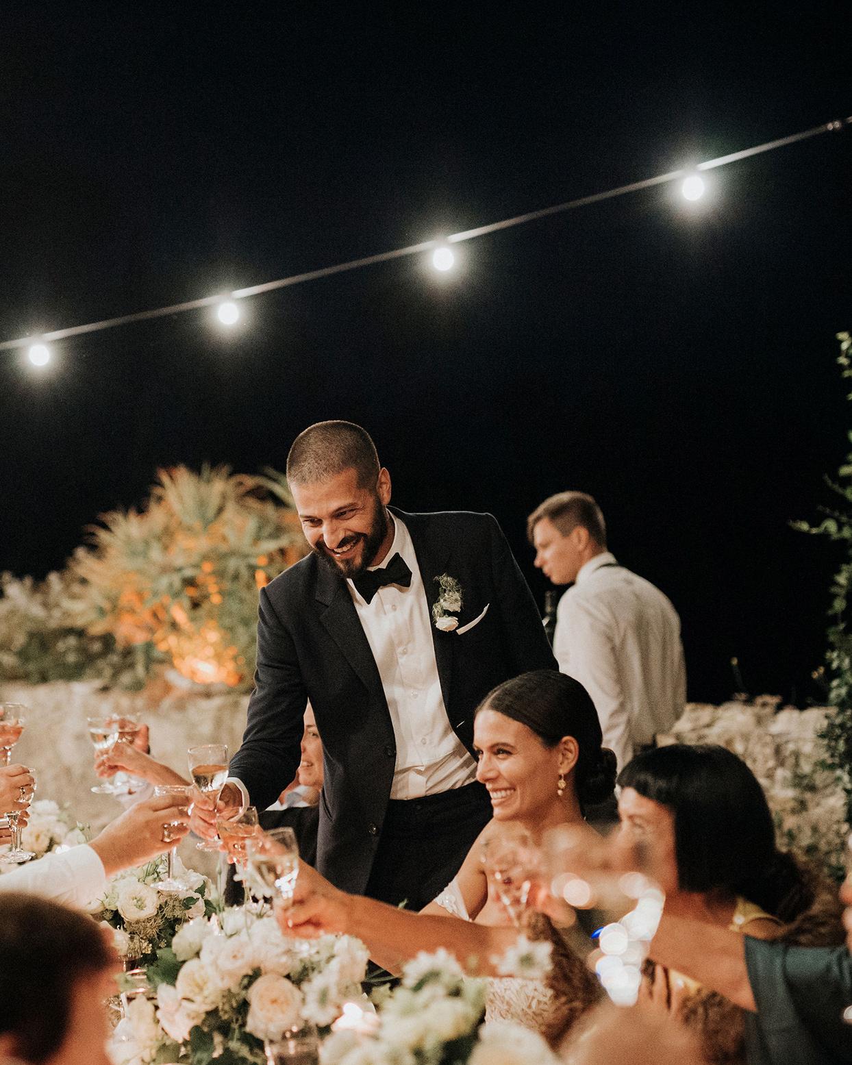 jaclyn antonio wedding bride and groom toast