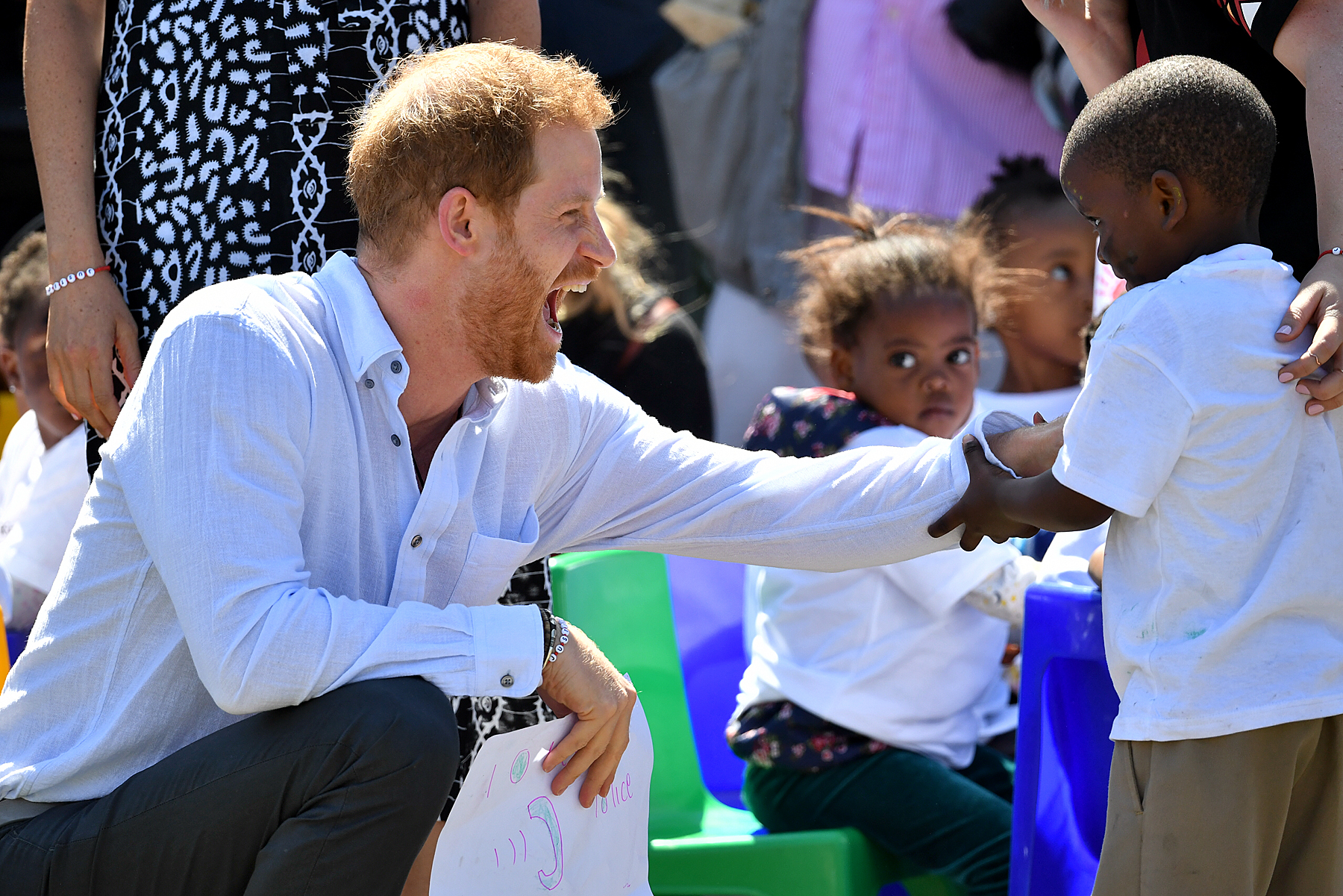 Prince Harry and Meghan Markle in Nyanga Township in Cape Town, South Africa