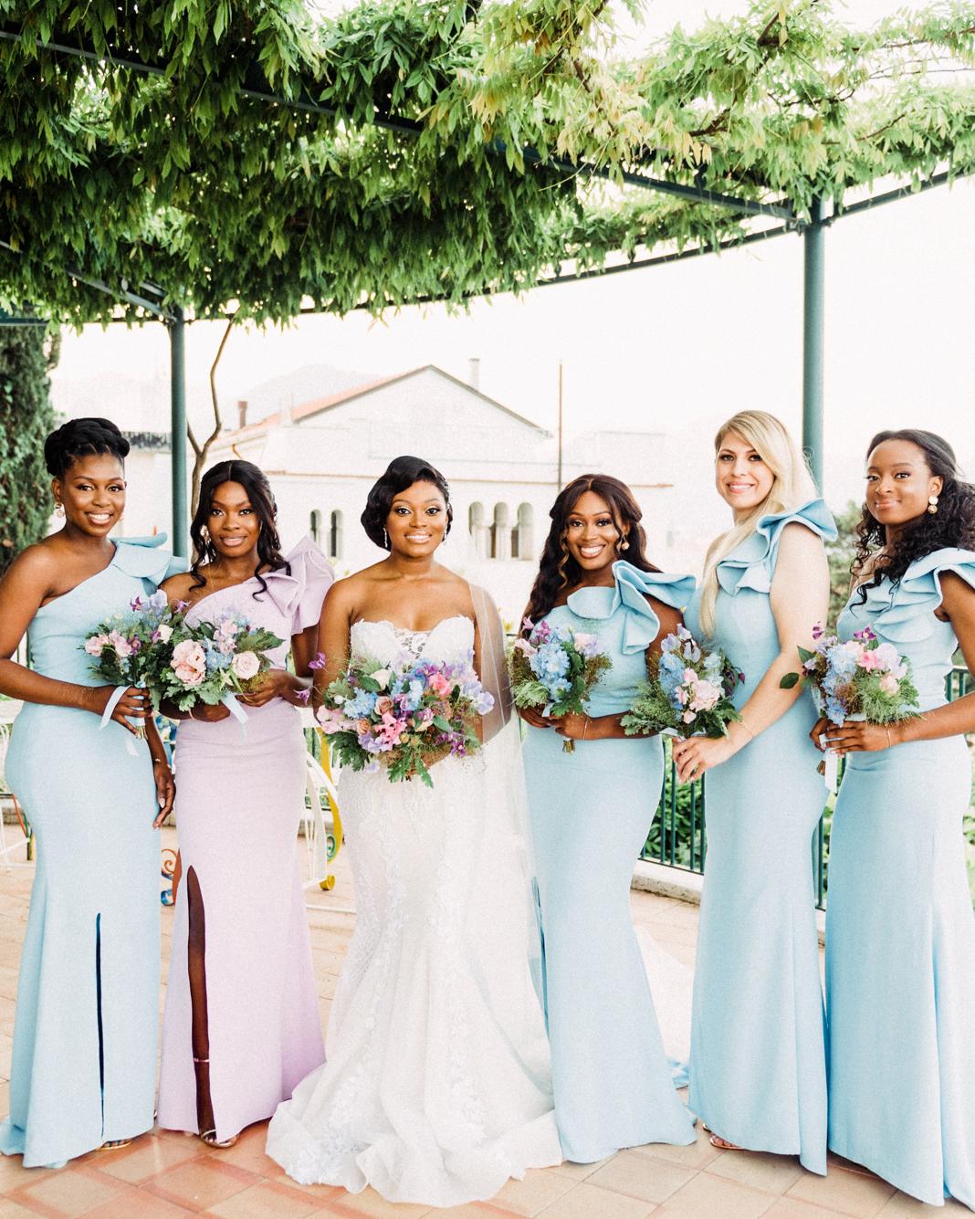 onome efe wedding bride bridesmaids