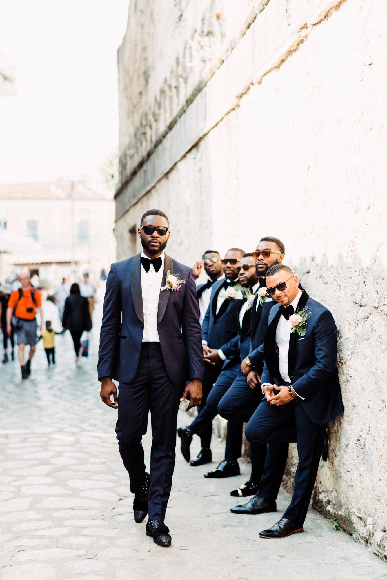 onome efe wedding groom and groomsmen