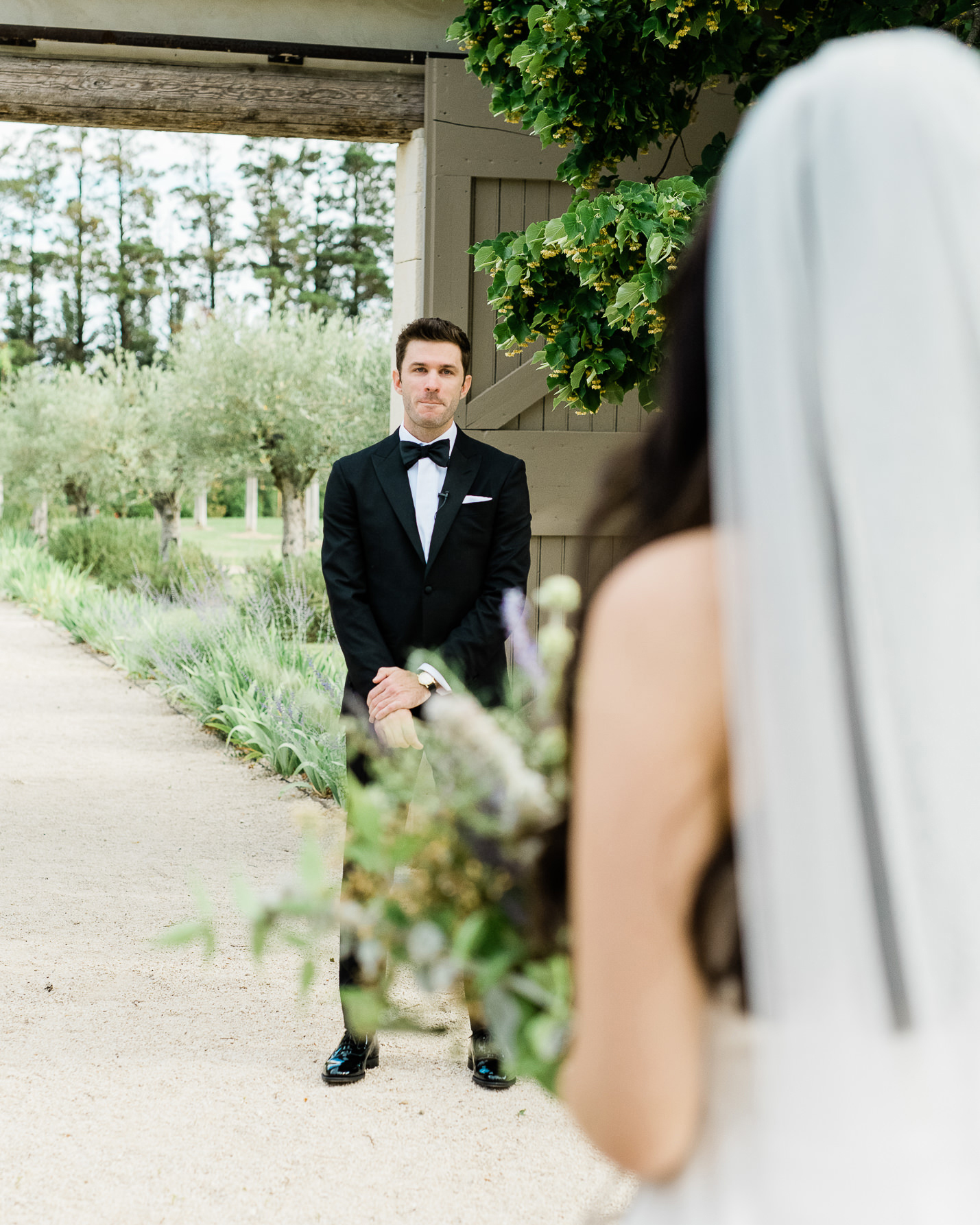samantha grayson wedding processional groom waiting by door