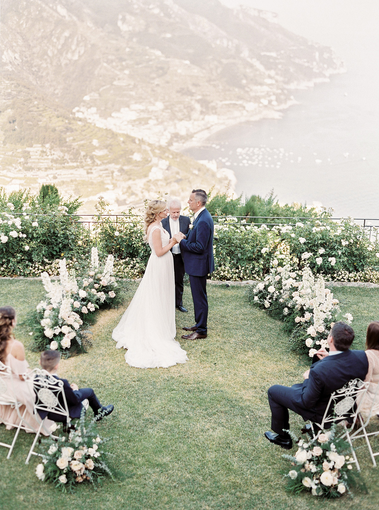 krystyna alexander small wedding ceremony amalfi coast