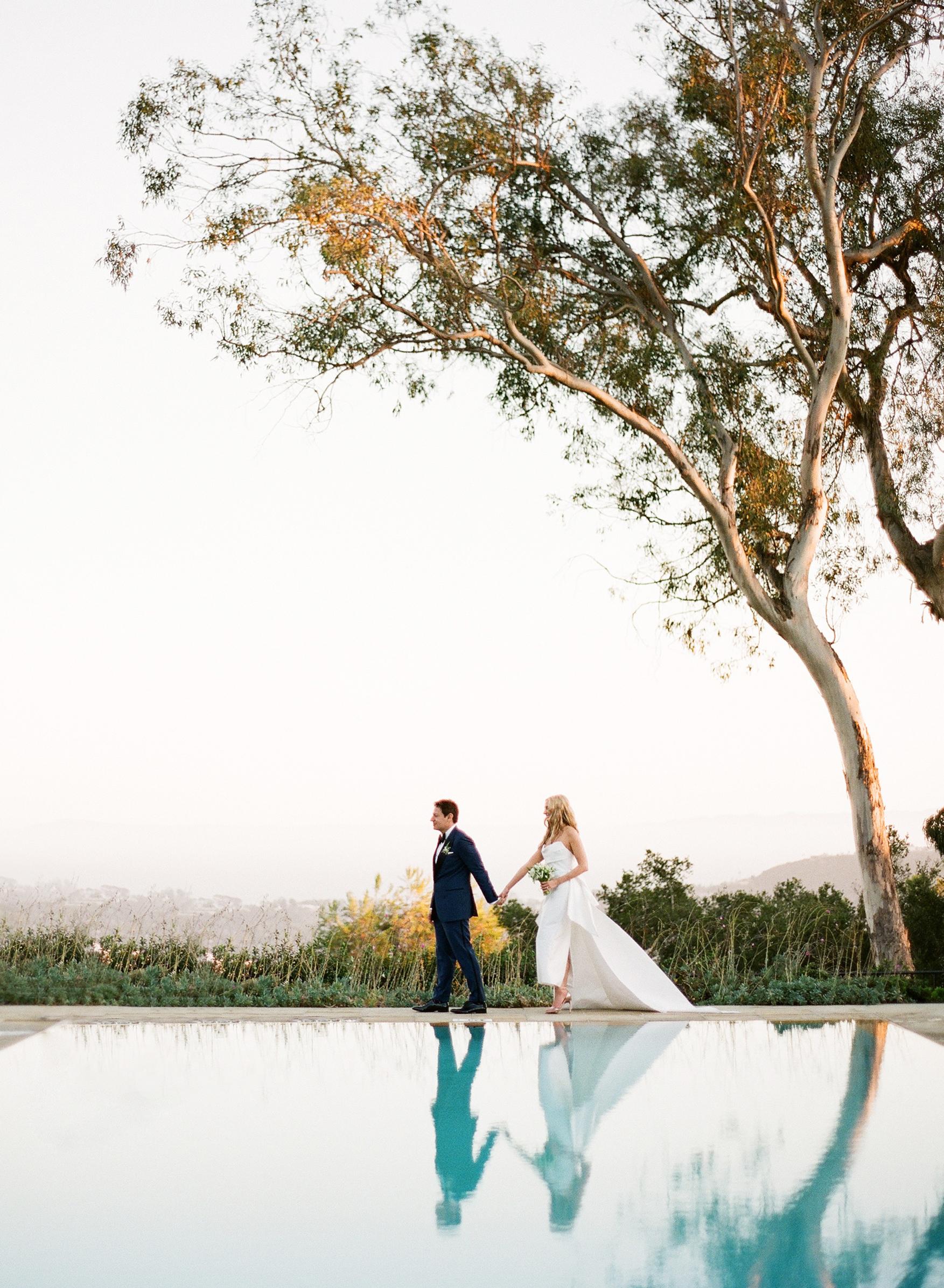 katy michael wedding couple walking california view
