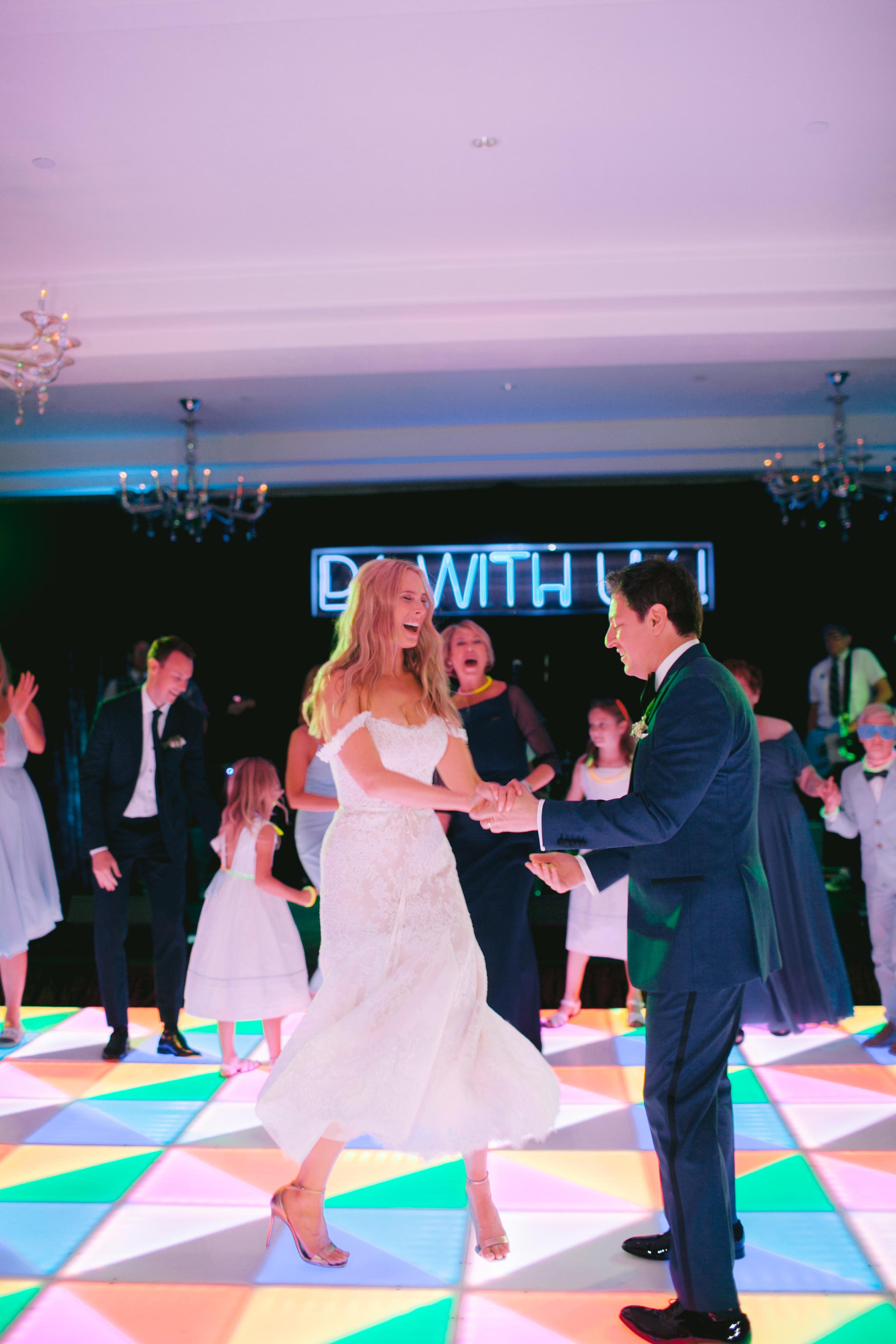 katy michael wedding couple dancing