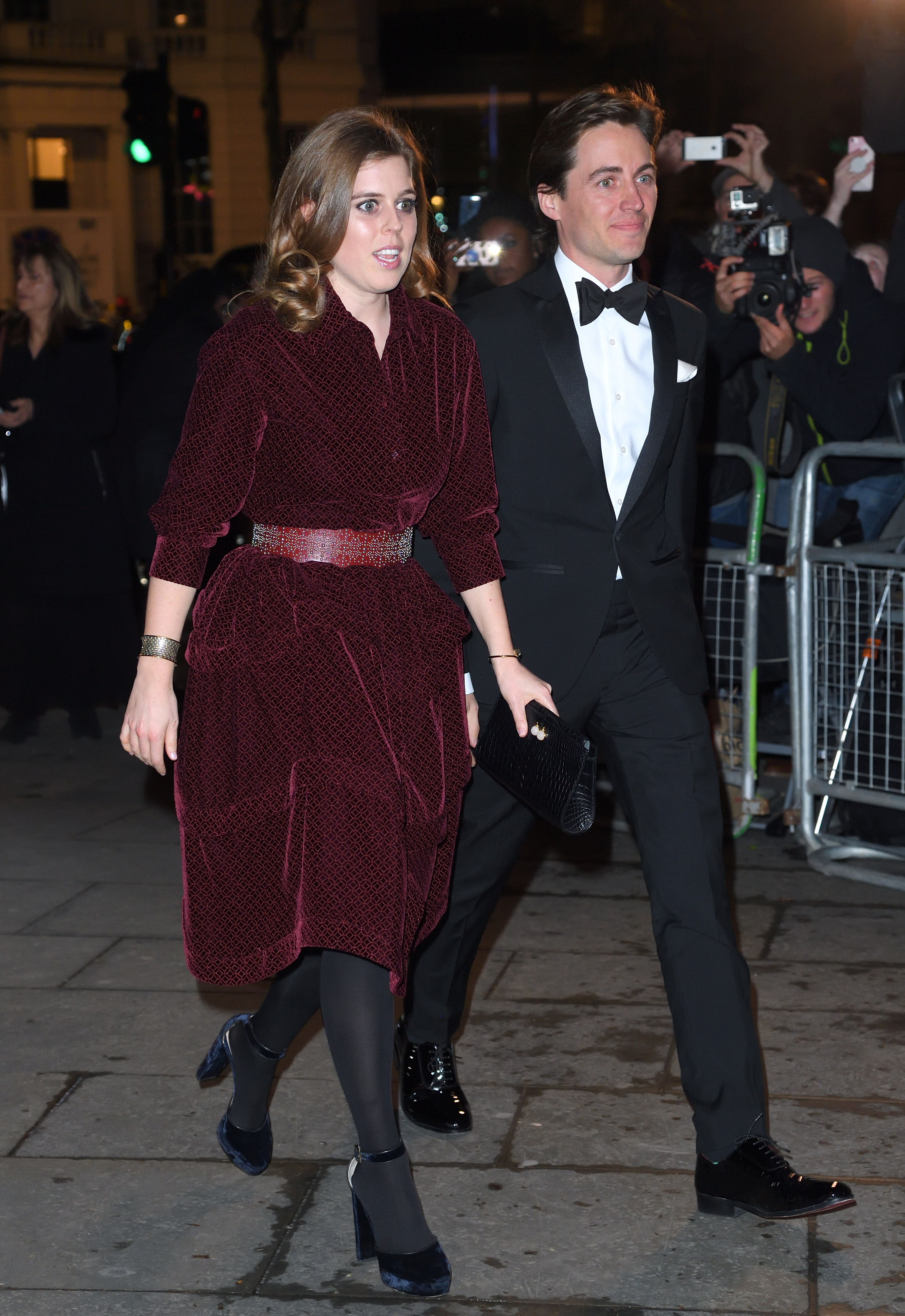 princess beatrice walking with fiancé