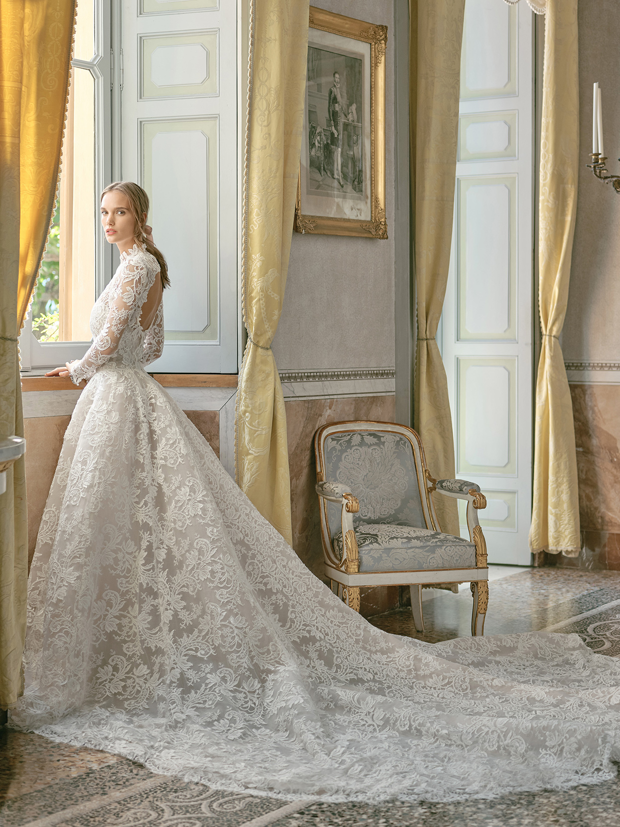 monique lhuillier lace overlay ball gown wedding dress fall 2020