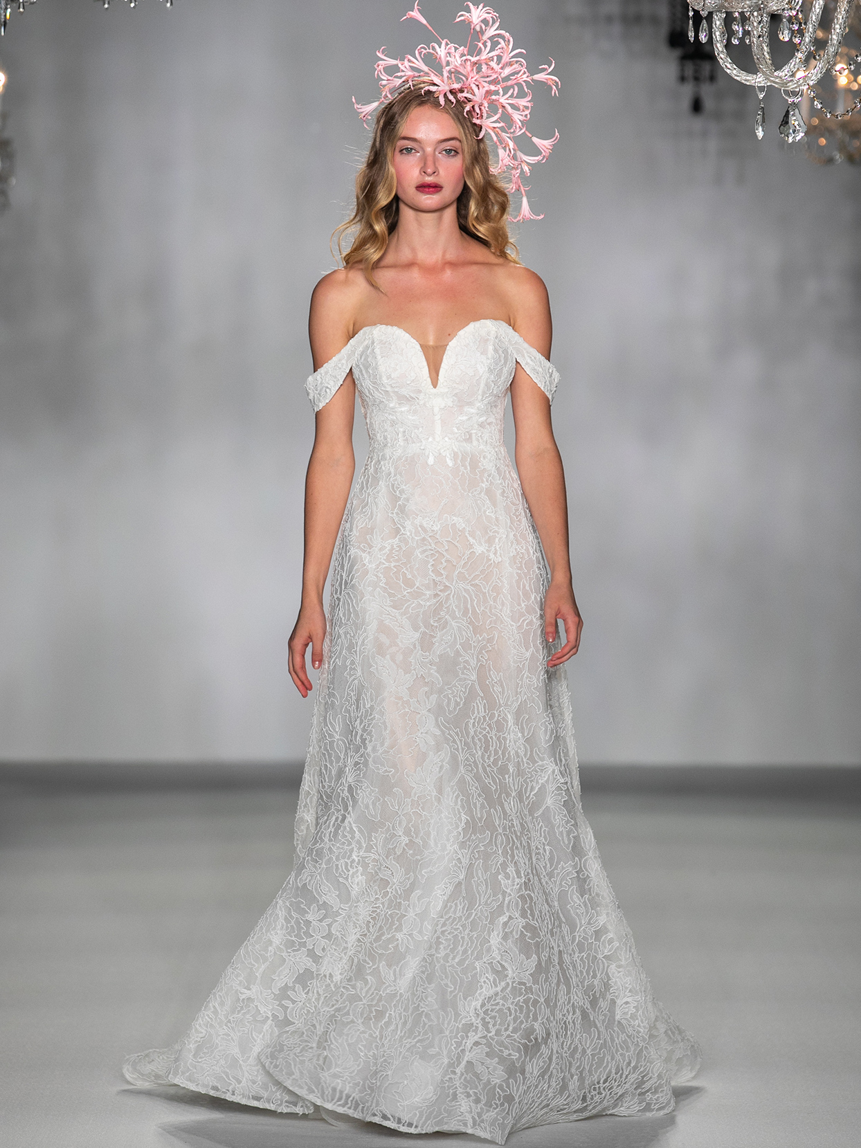 anne barge sweetheart off the shoulder wedding dress fall 2020