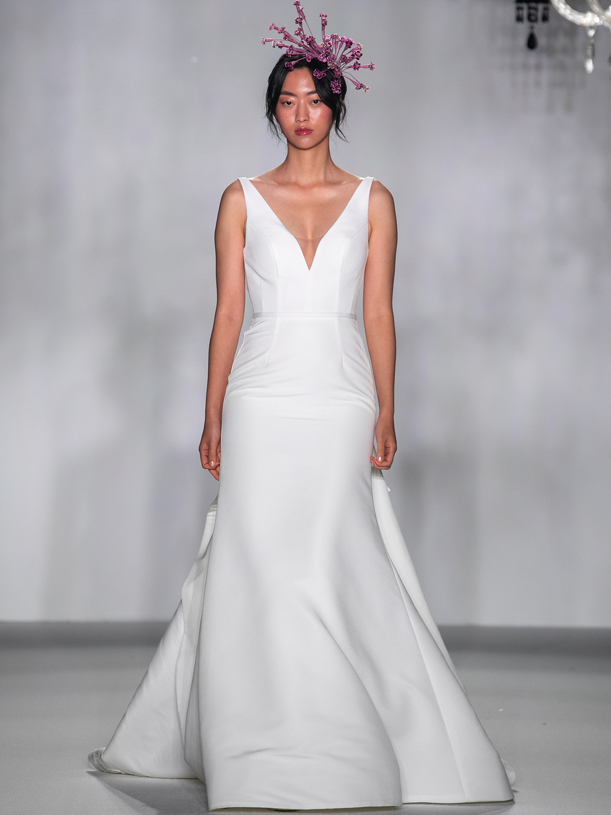 anne barge v neck trumpet wedding dress fall 2020
