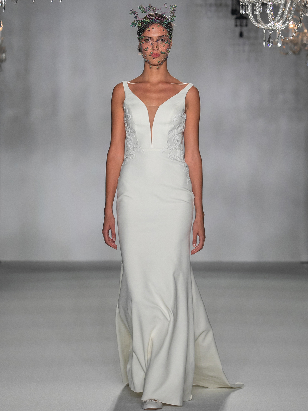anne barge plunging v neck trumpet wedding dress fall 2020