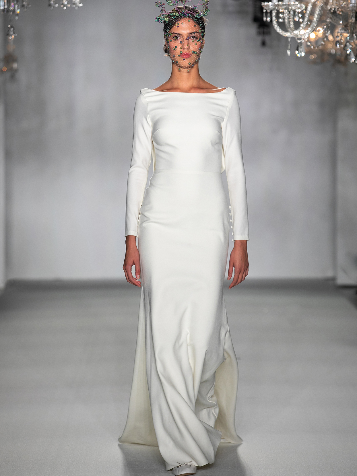 anne barge high neck long sleeve wedding dress fall 2020