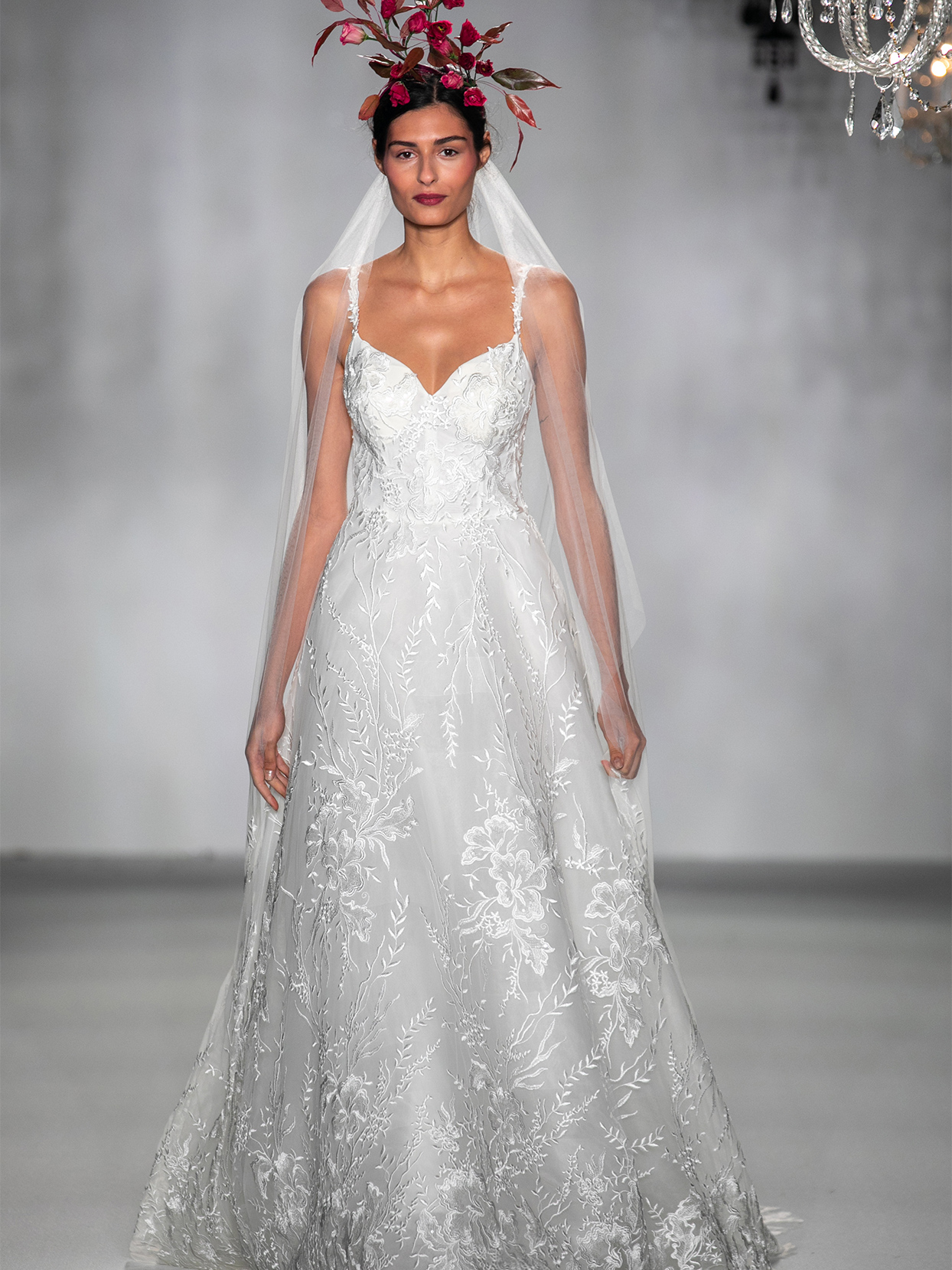 anne barge sweet heart lace overlay wedding dress fall 2020