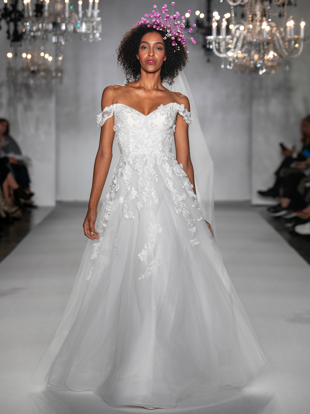 anne barge floral applique ball gown wedding dress fall 2020