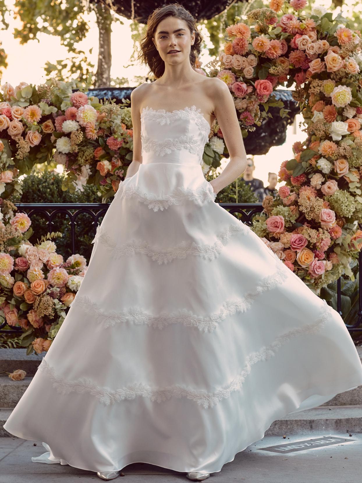 lela rose strapless sweetheart a-line wedding dress fall 2020