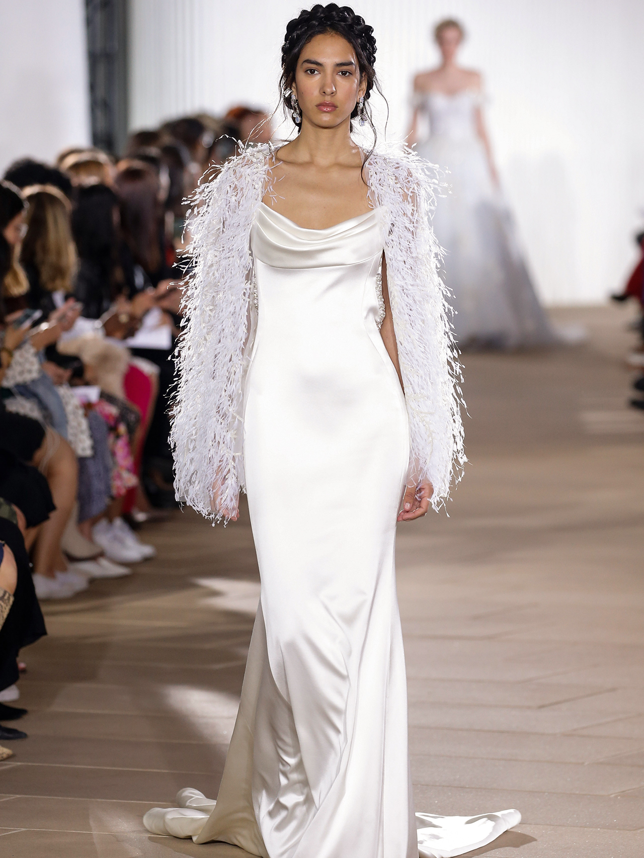 Ines Di Santo sheath fringe wedding dress fall 2020