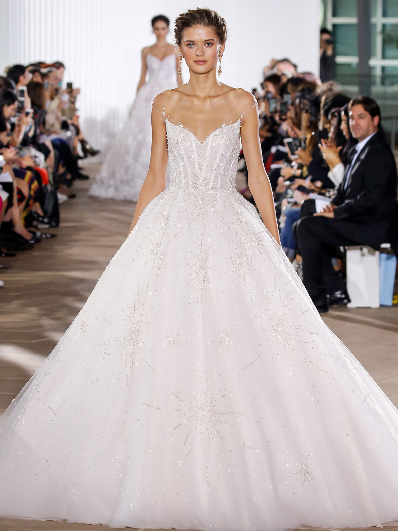 Ines Di Santo illusion ball gown wedding dress fall 2020