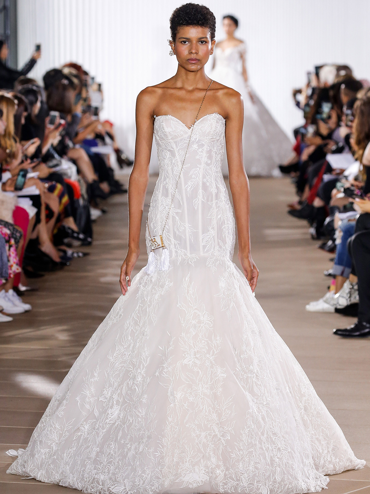Ines Di Santo strapless trumpet wedding dress fall 2020